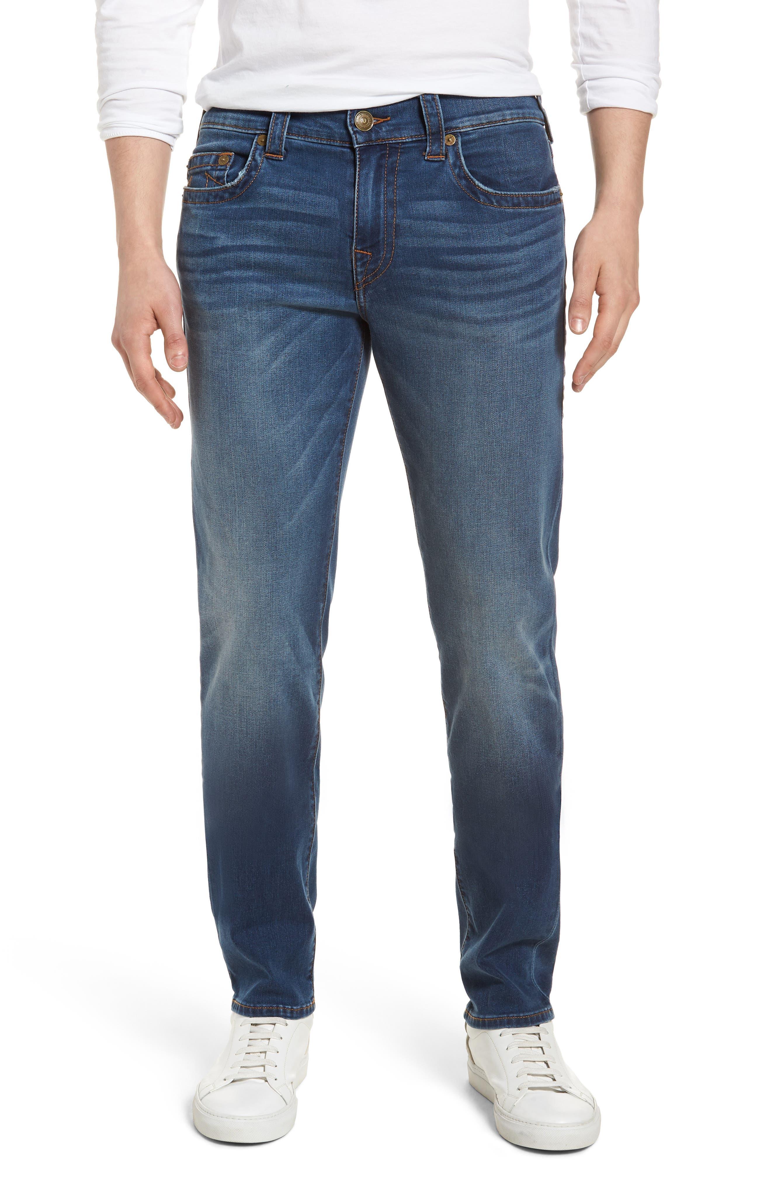 Geno Straight Leg Jeans,                             Main thumbnail 1, color,                             INDIGO LAKE