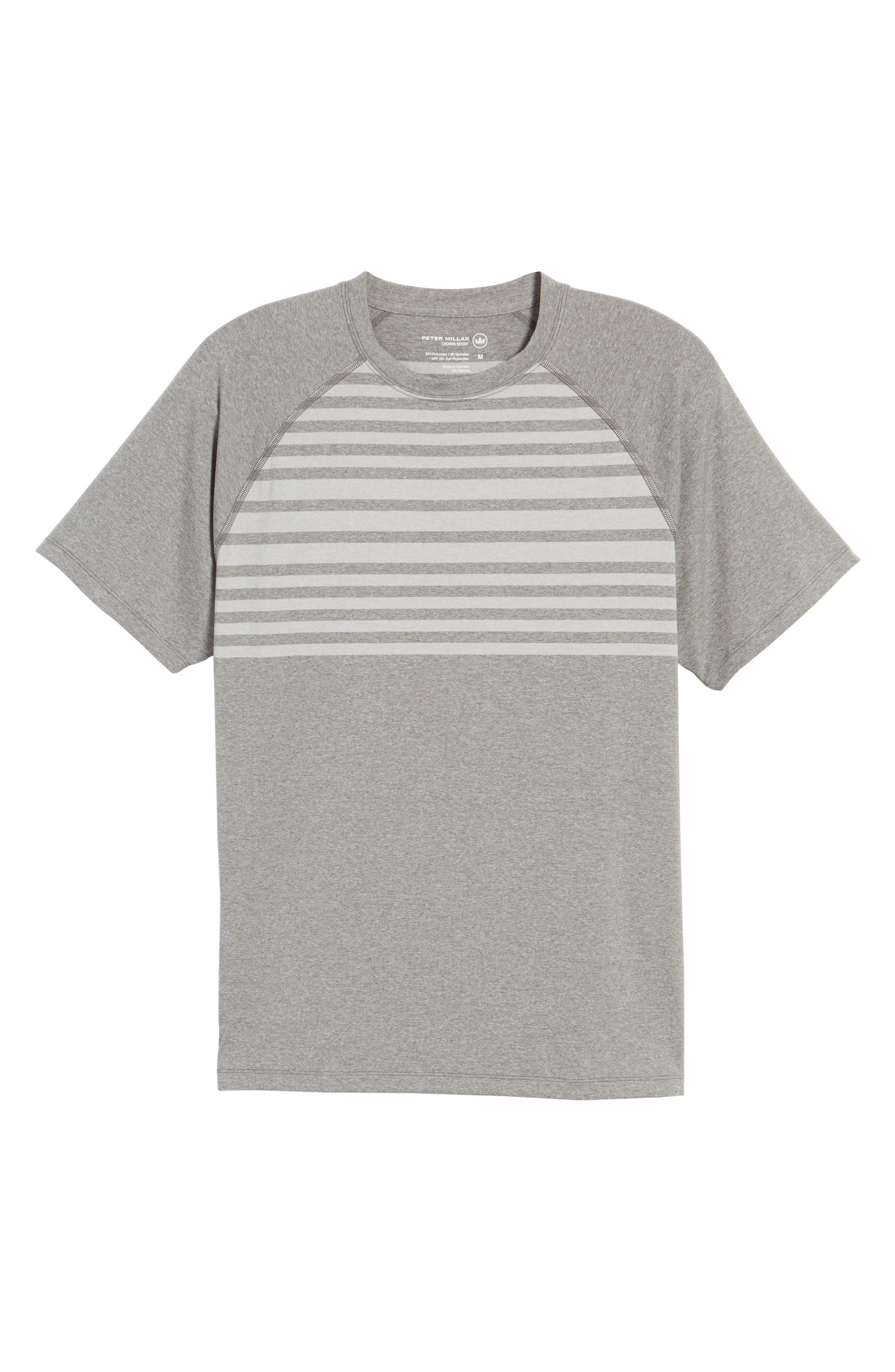 Rio Stripe Technical T-Shirt,                             Alternate thumbnail 6, color,                             025