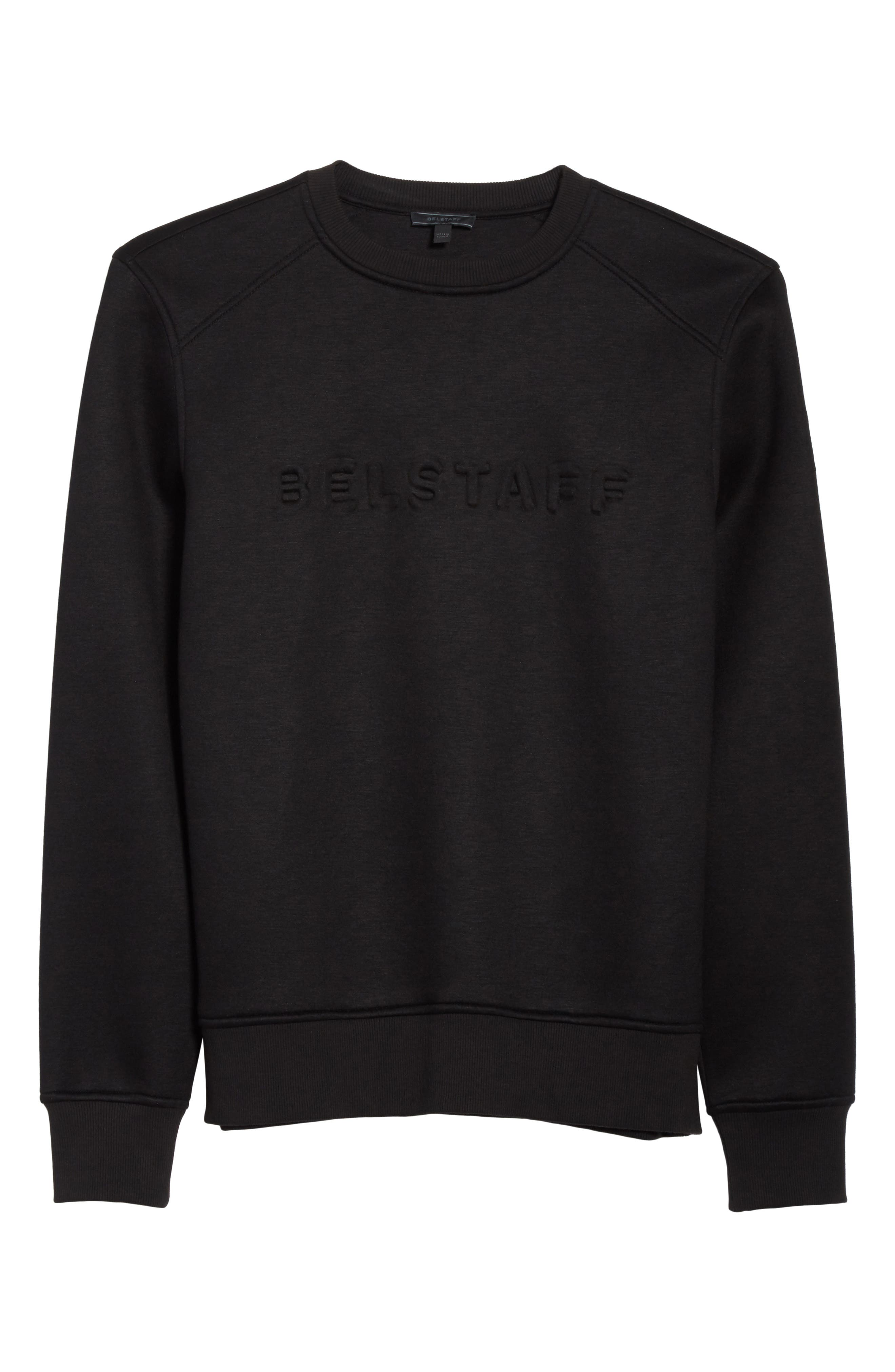 Belsford Crewneck Sweatshirt,                             Alternate thumbnail 6, color,                             001