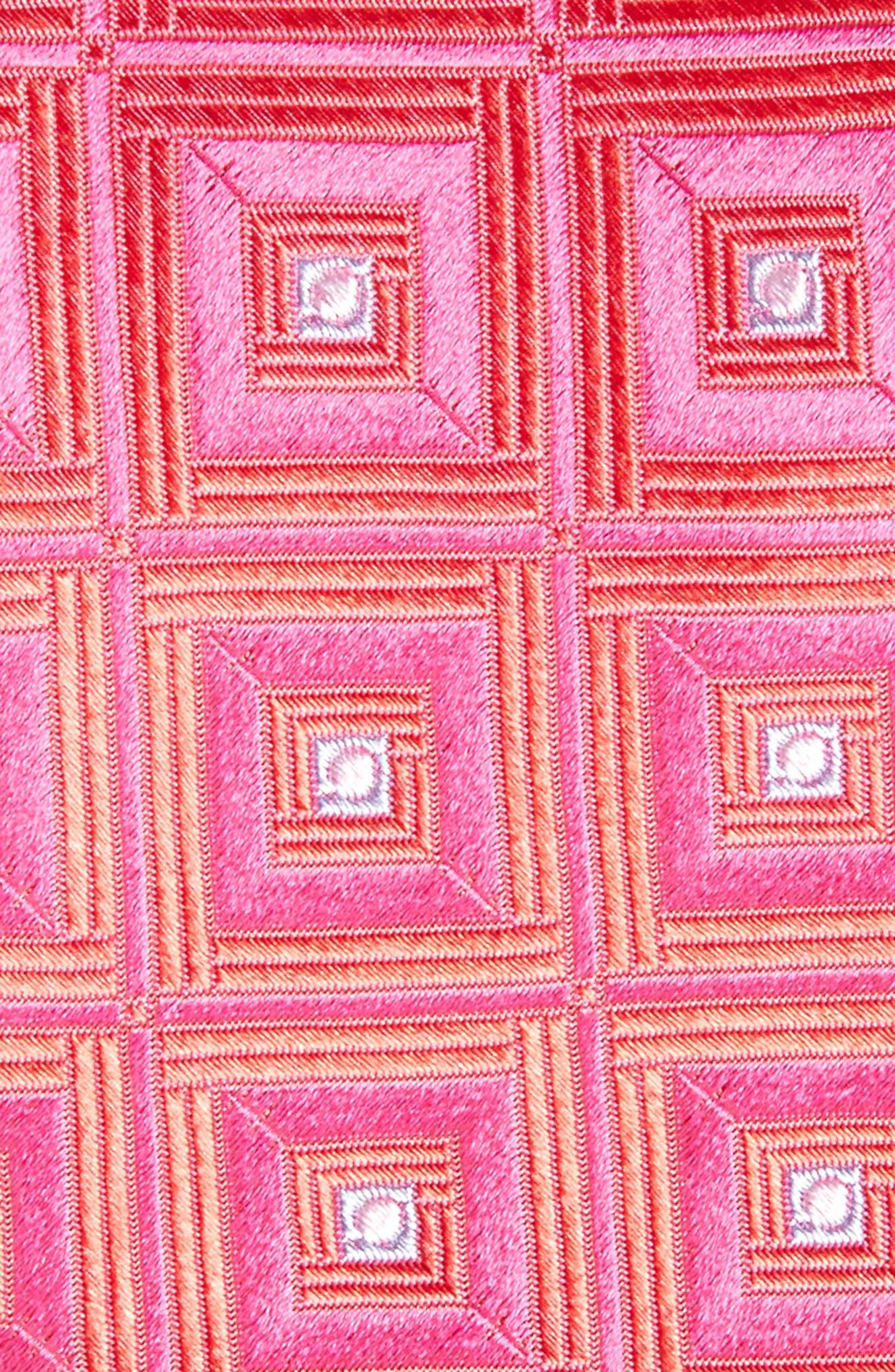 Frame Diamonds Silk Tie,                             Alternate thumbnail 6, color,