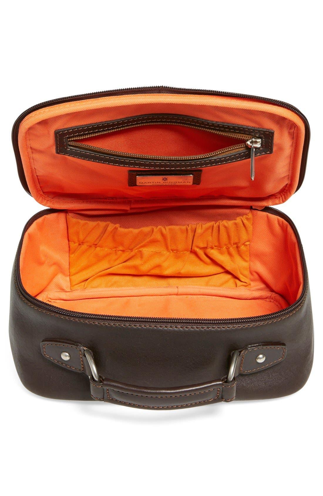 MartinDingman'Rudyard' Leather Travel Kit,                             Alternate thumbnail 4, color,                             CHOCOLATE