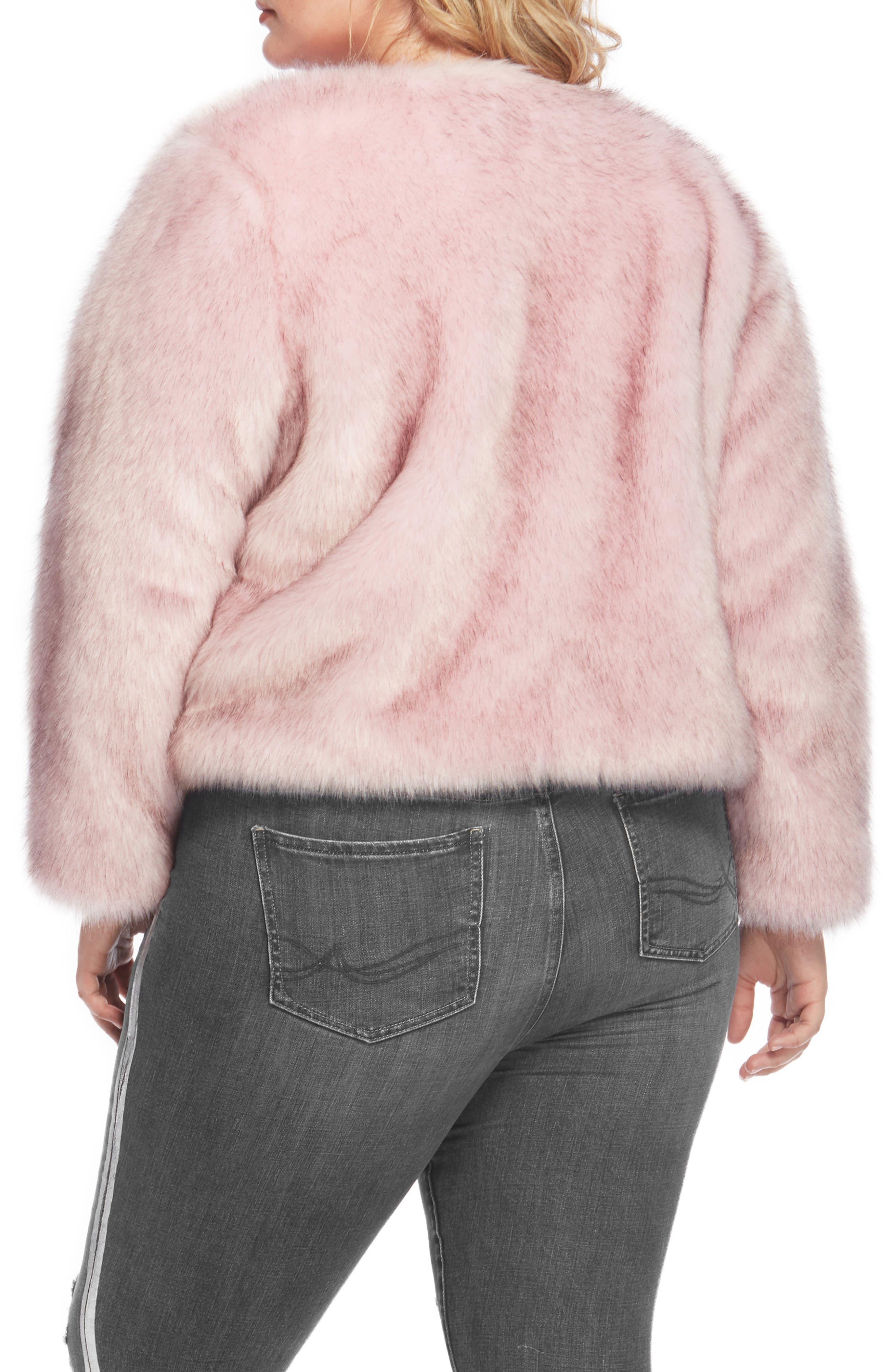 Faux Fur Jacket,                             Alternate thumbnail 6, color,