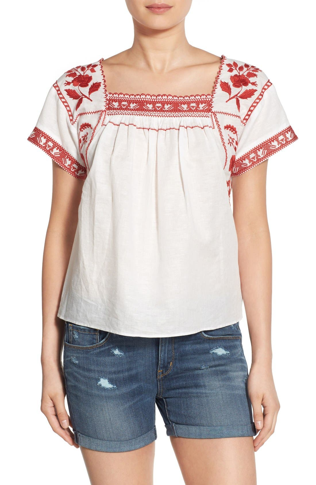 Wildfield Embroidered Top,                             Main thumbnail 2, color,