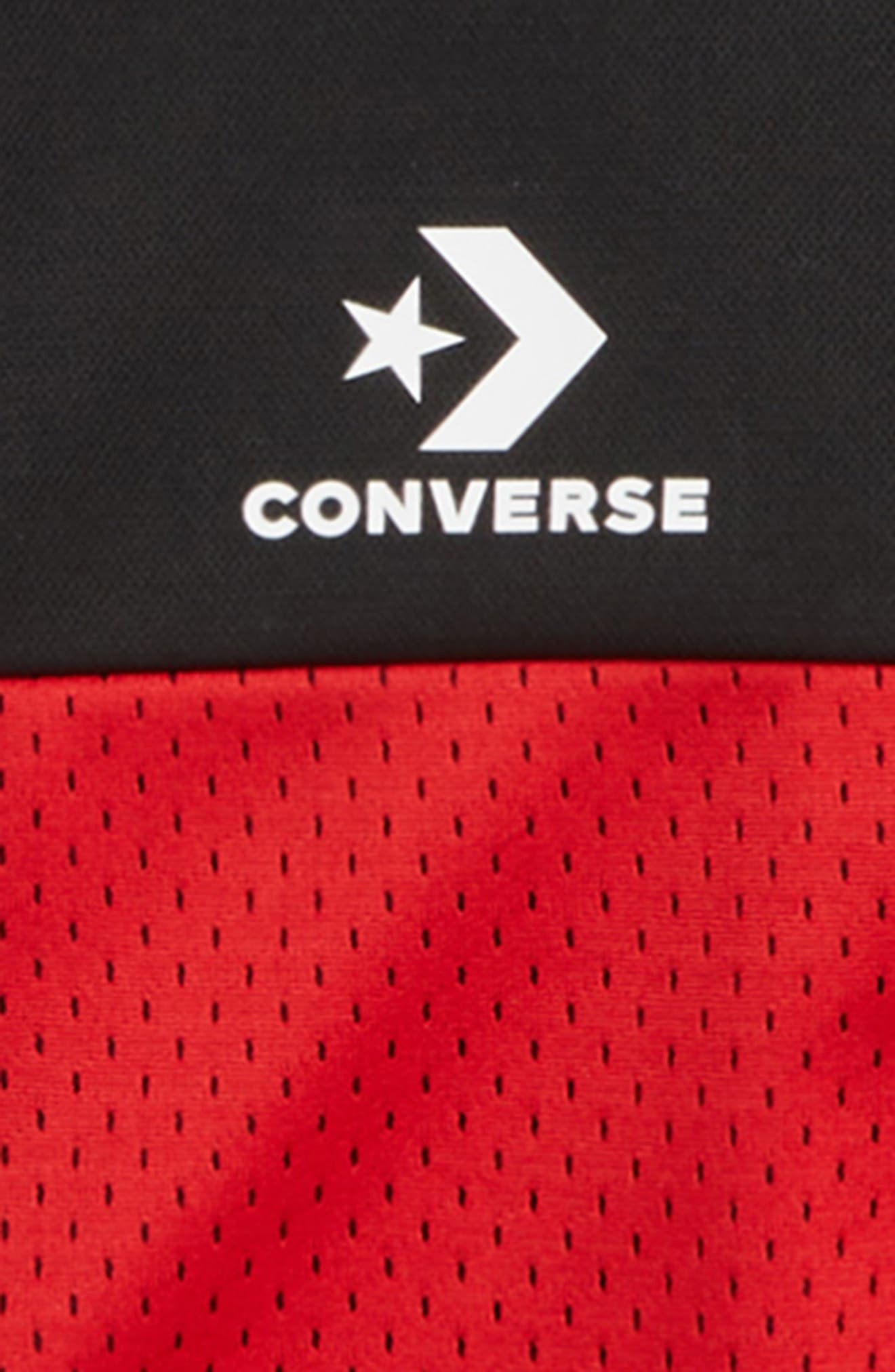 CONVERSE,                             Colorblock Track Jacket,                             Alternate thumbnail 2, color,                             BLACK