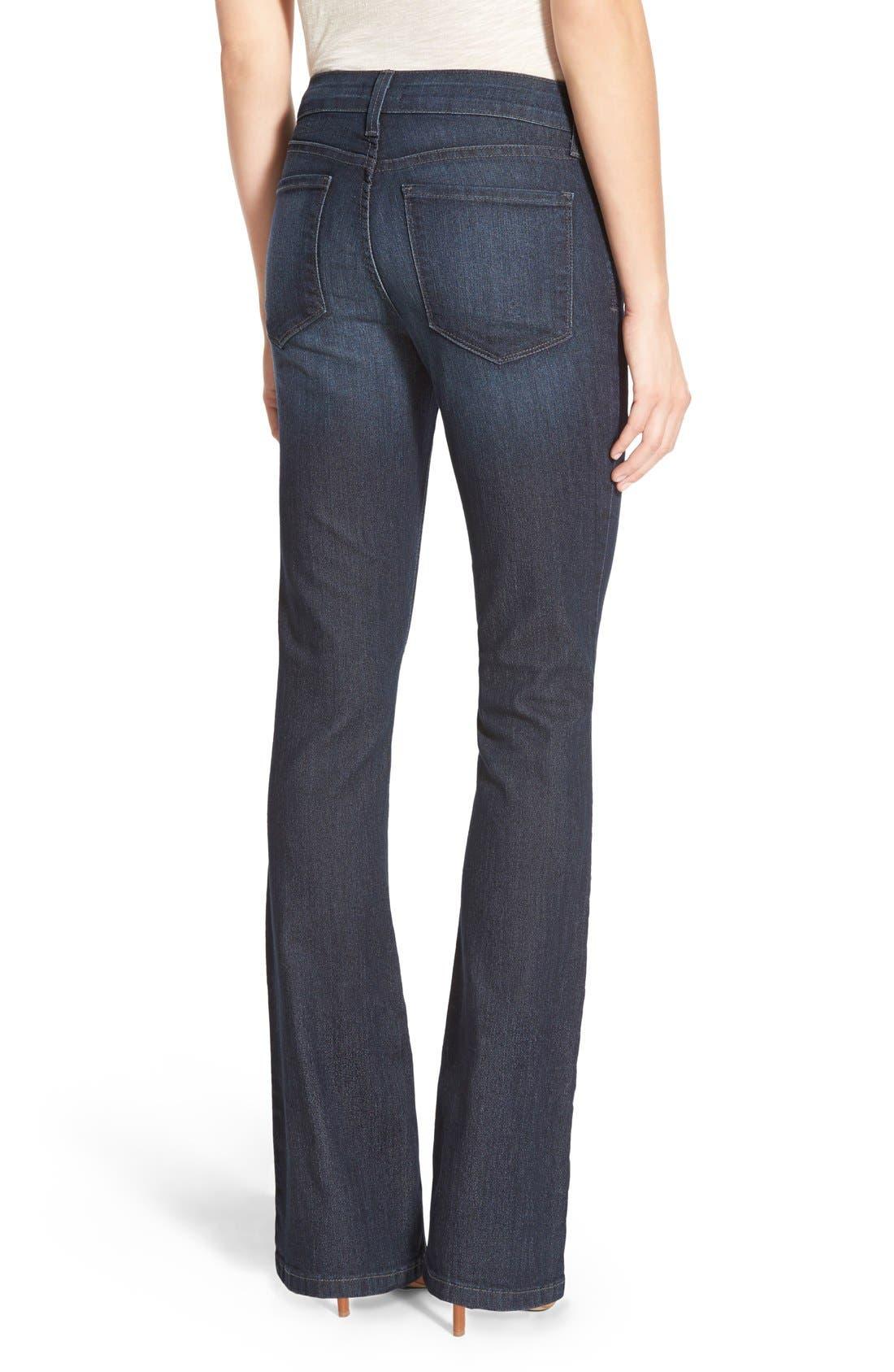 'Billie' Stretch Mini Bootcut Jeans,                             Alternate thumbnail 2, color,
