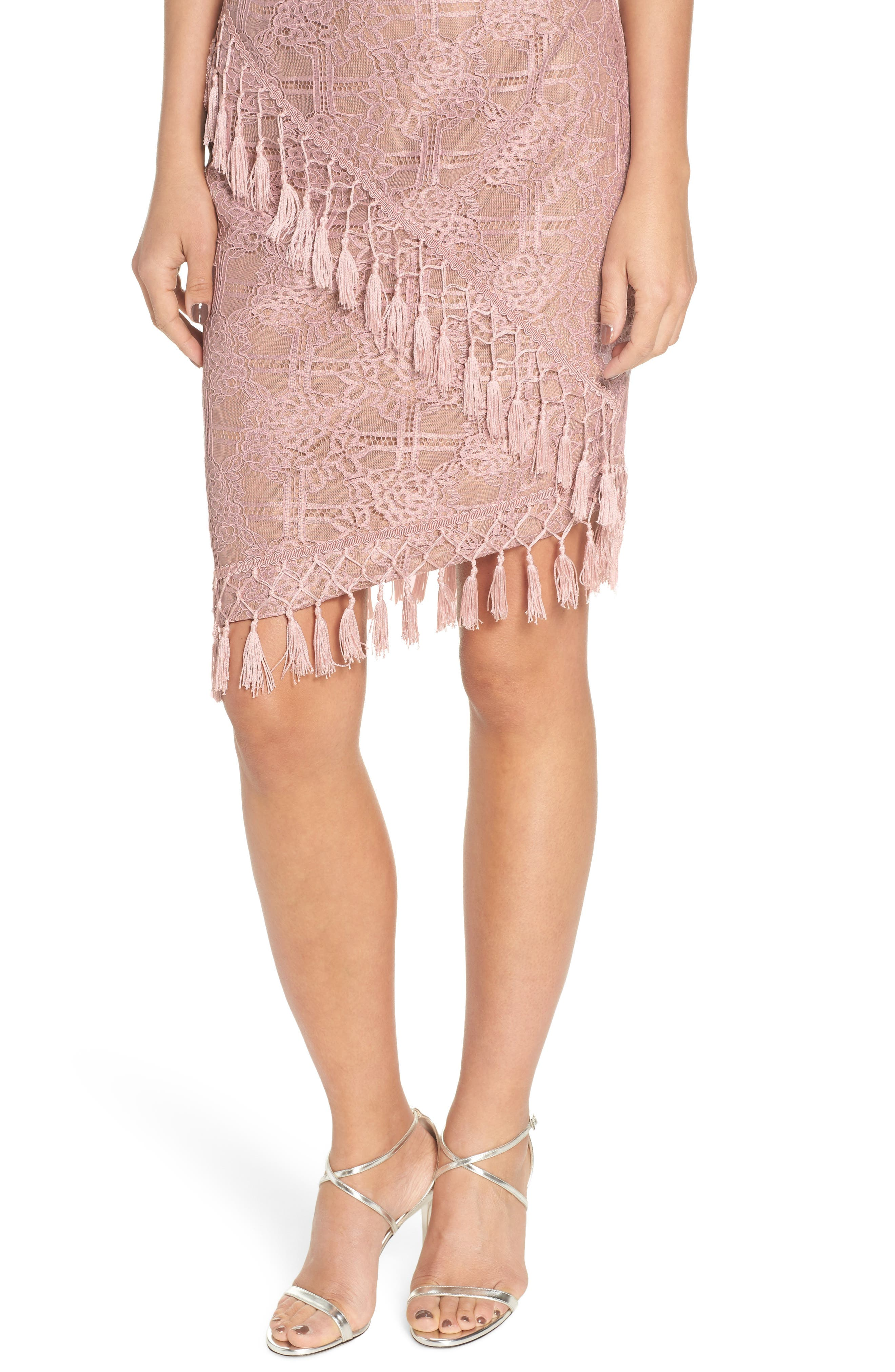 Natasha Asymmetrical Lace Dress,                             Alternate thumbnail 4, color,                             250