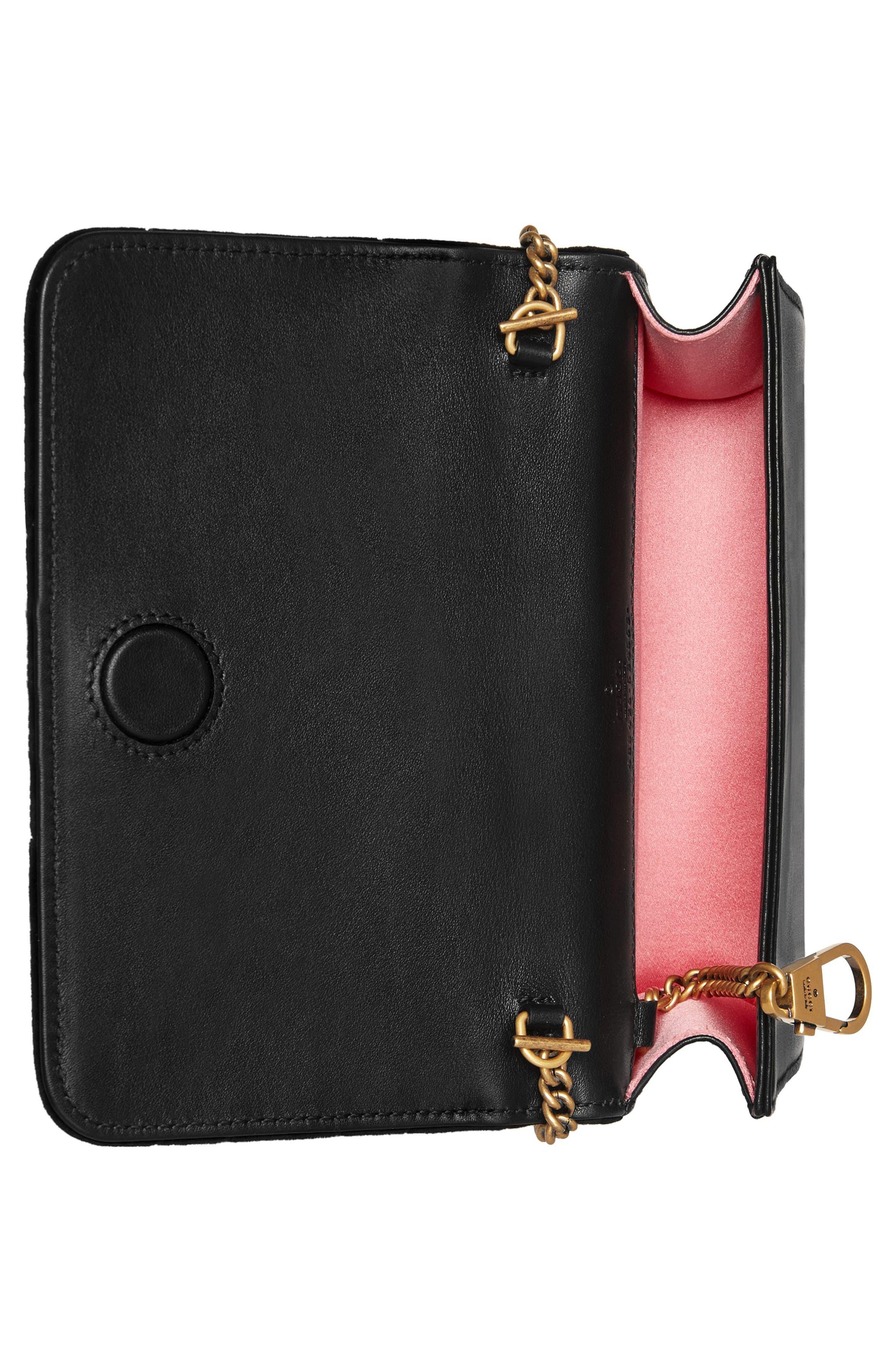 GG Marmont 2.0 Matelassé Velvet Shoulder Bag,                             Alternate thumbnail 2, color,                             NERO/ NERO