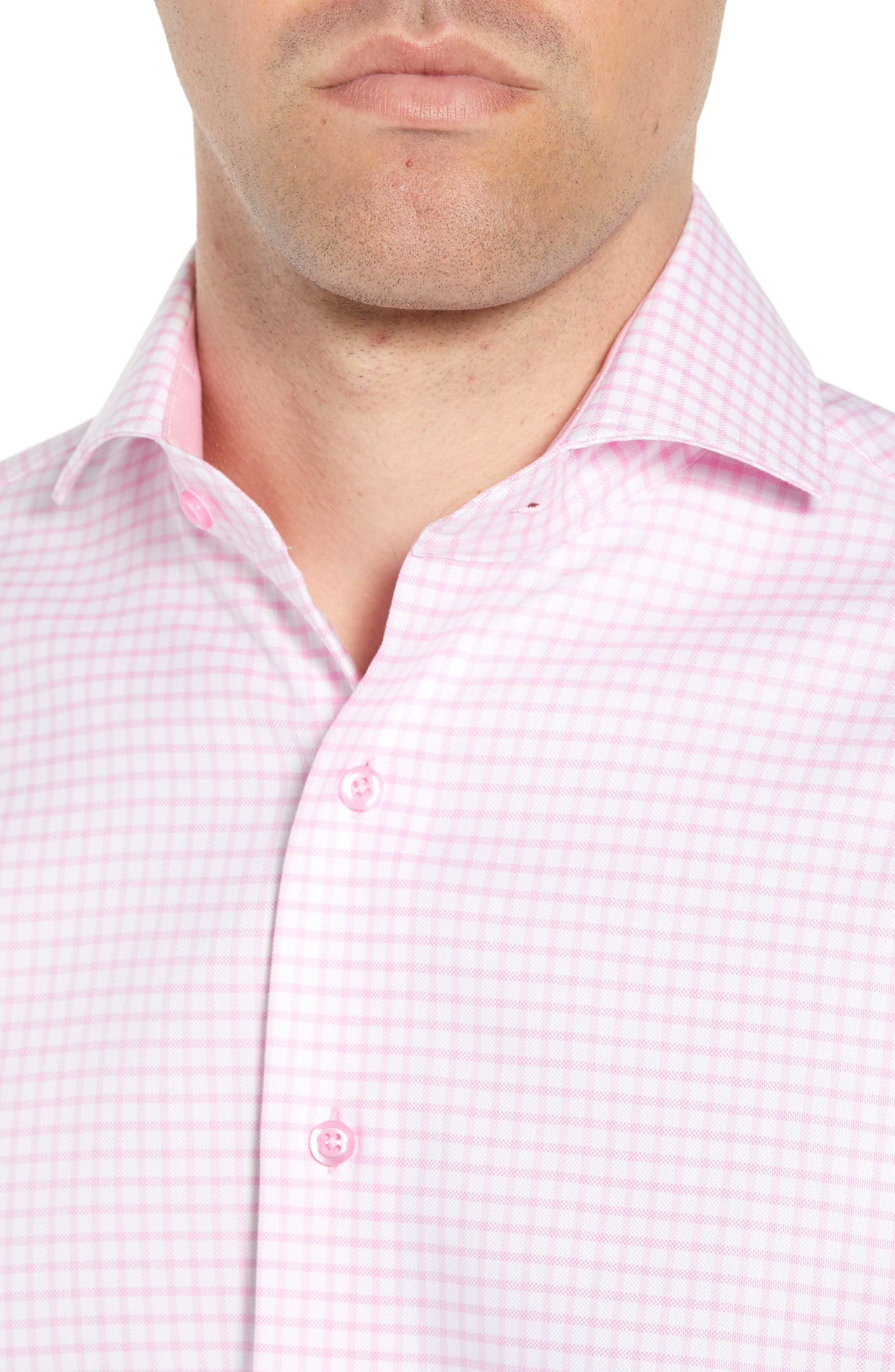 Trim Fit Check Dress Shirt,                             Alternate thumbnail 2, color,                             680