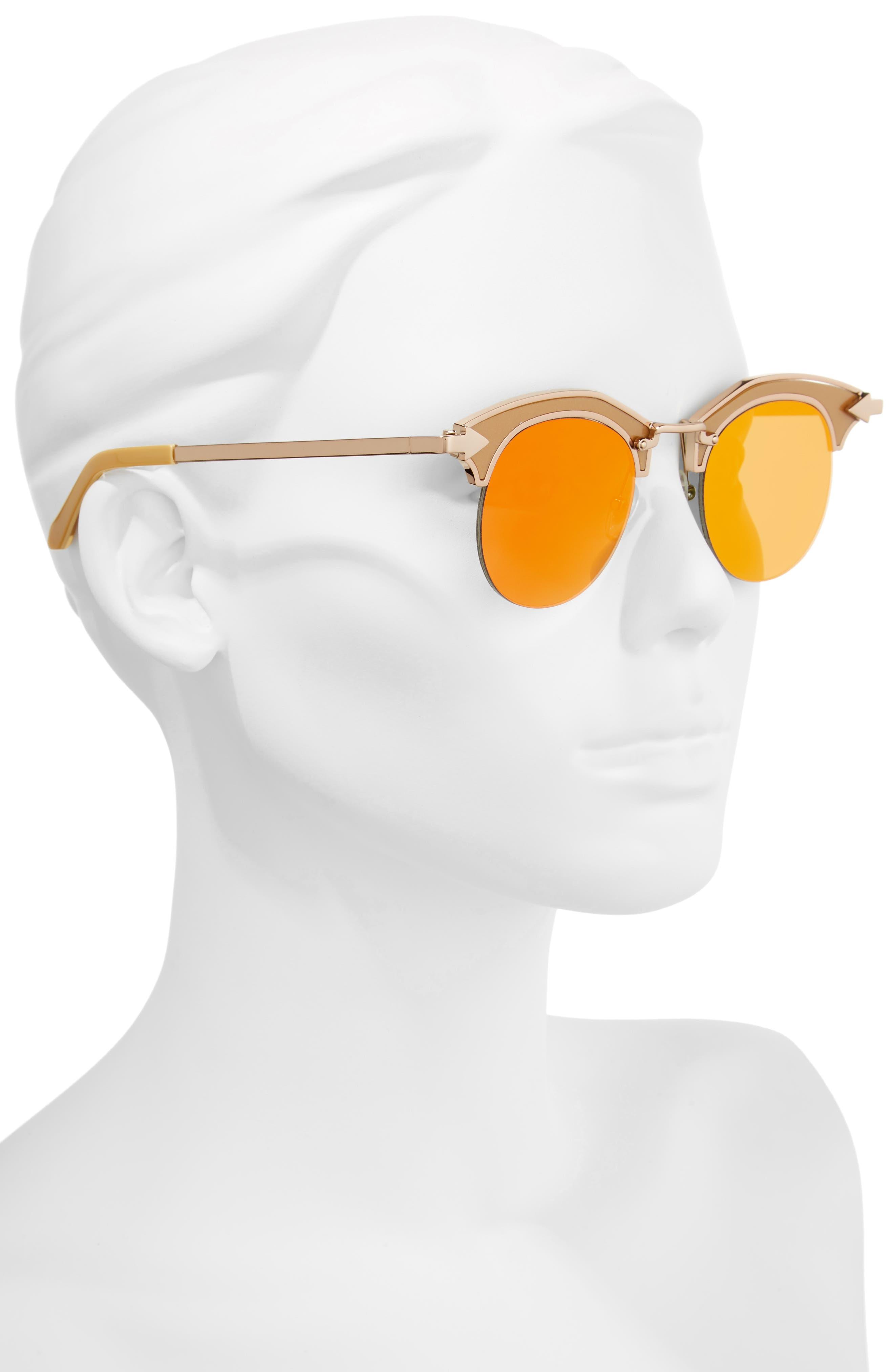 Buccaneer 47mm Round Sunglasses,                             Alternate thumbnail 6, color,