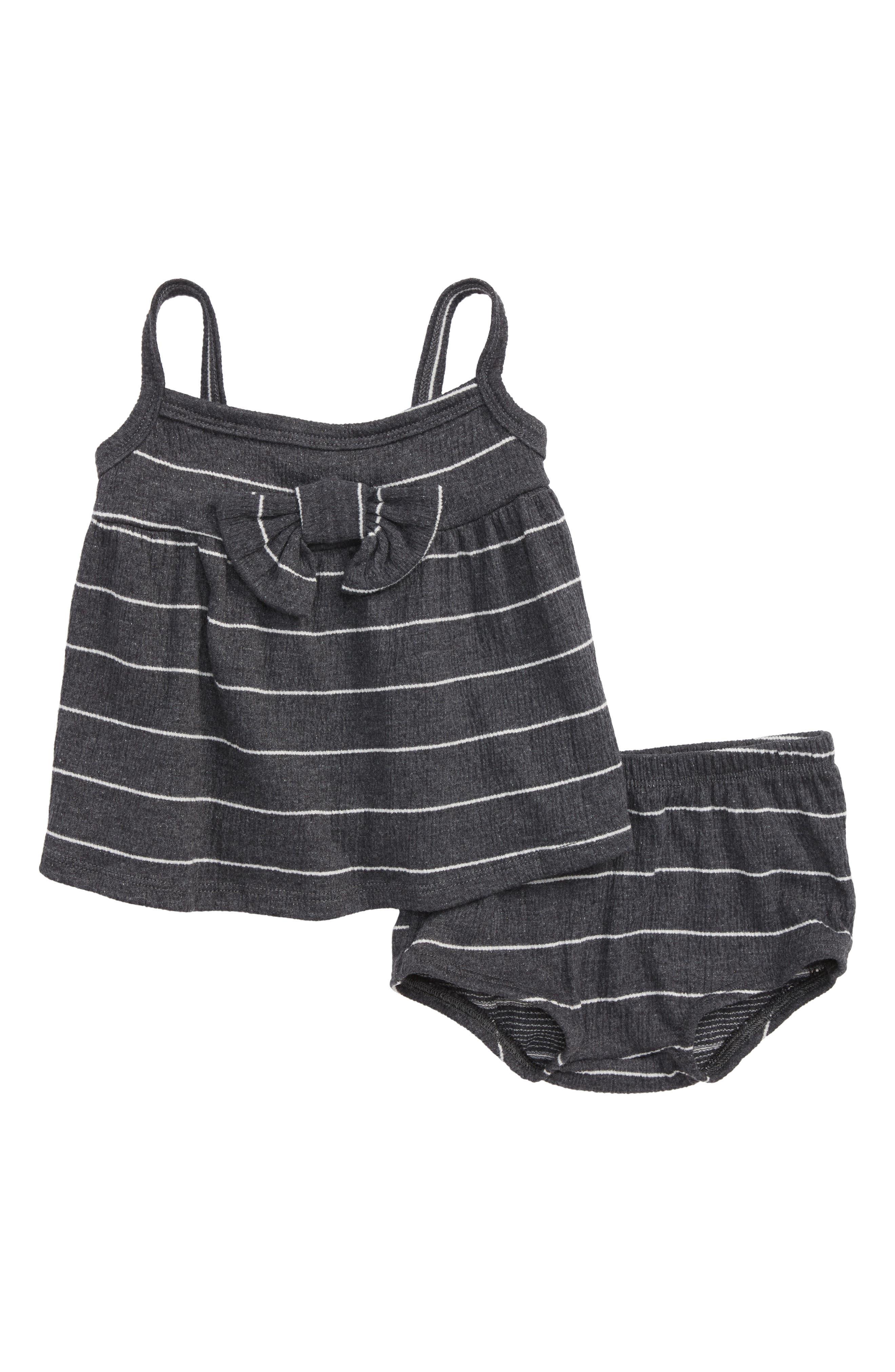 Stripe Tank & Shorts Set,                         Main,                         color, BLACK STRIPE