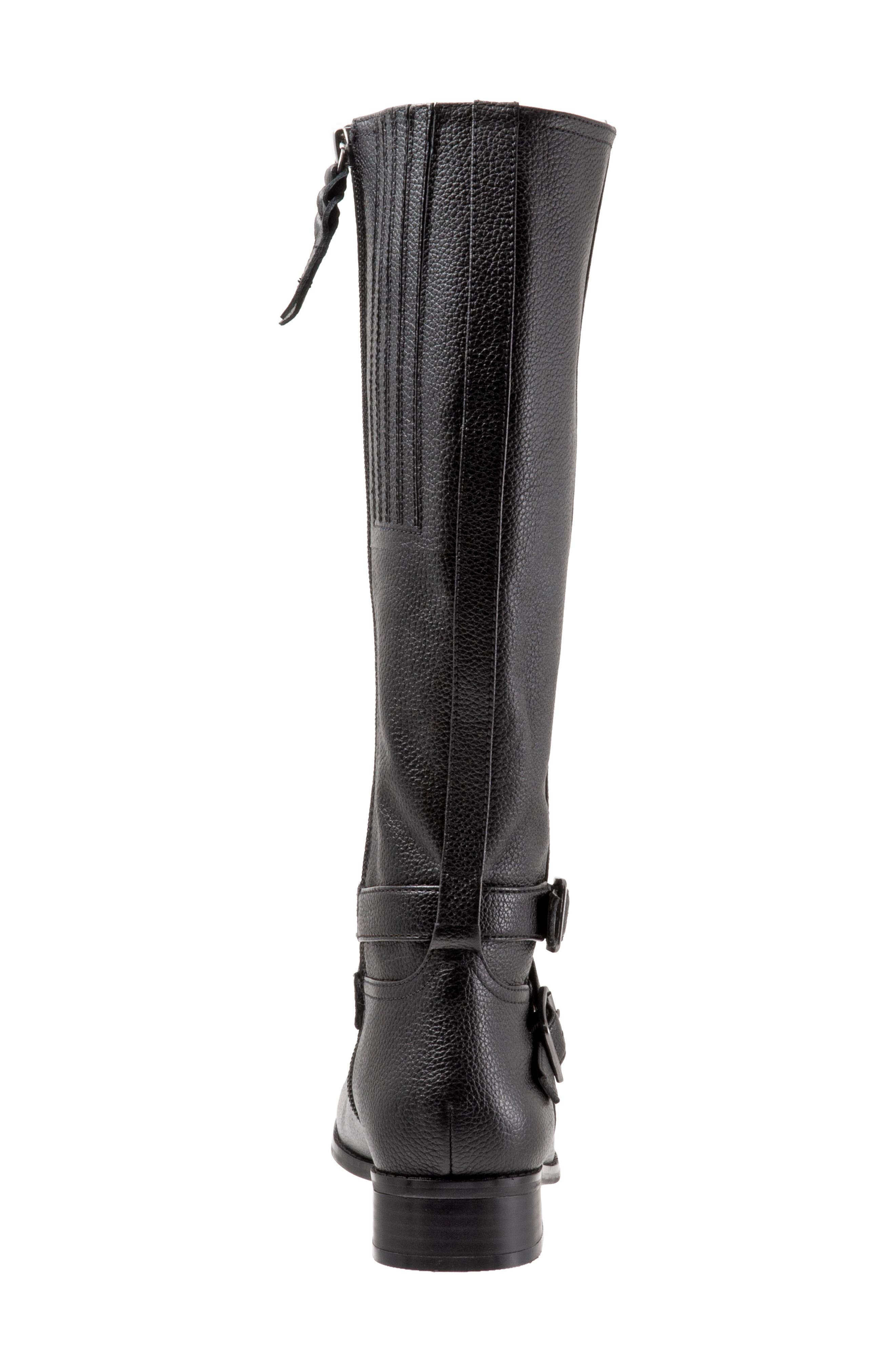 Liberty Tall Boot,                             Alternate thumbnail 7, color,                             BLACK LEATHER