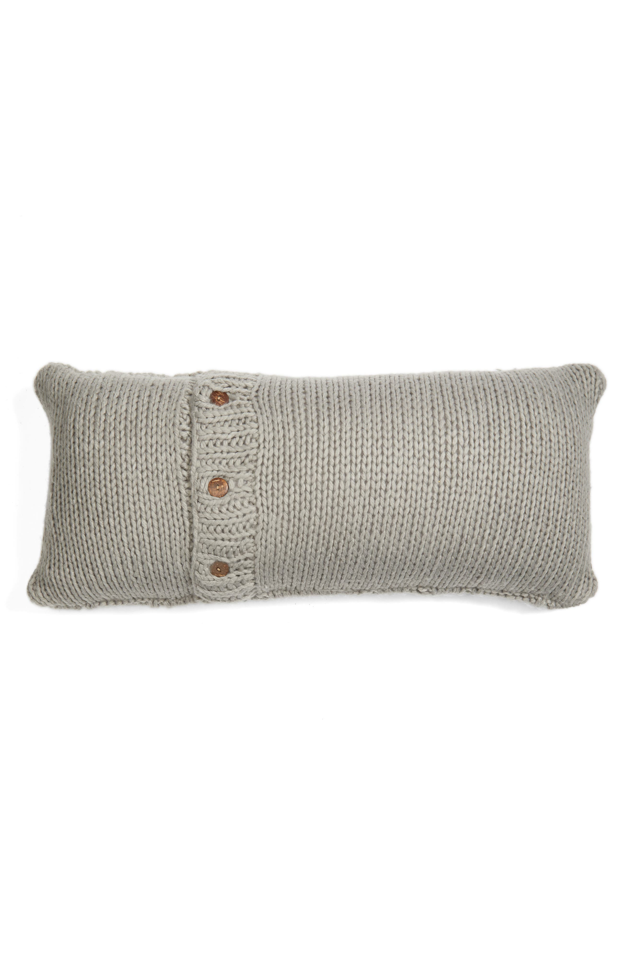 Cable Knit Accent Pillow,                             Alternate thumbnail 2, color,                             020