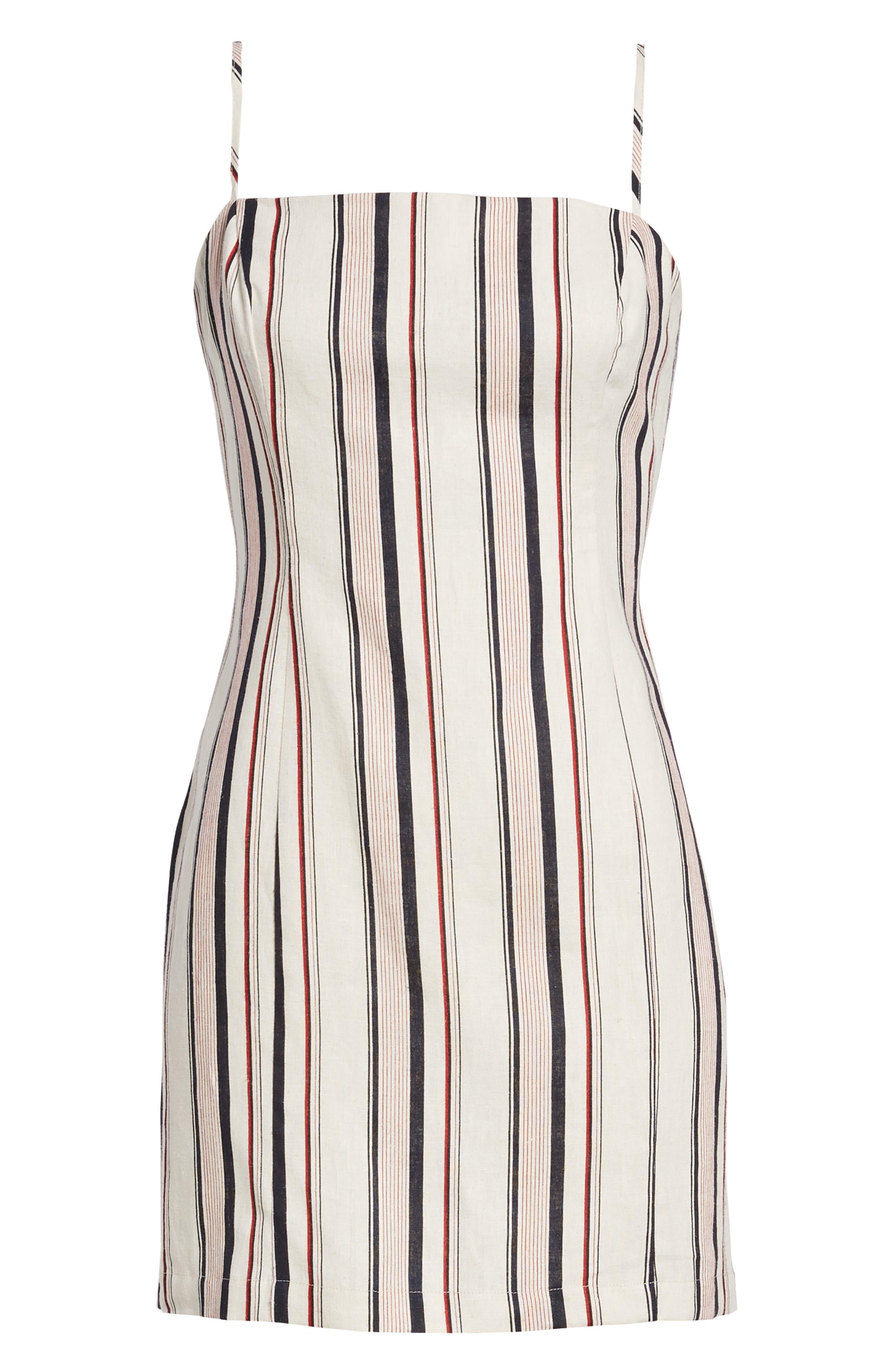 Striped Shift Dress,                             Alternate thumbnail 7, color,                             400