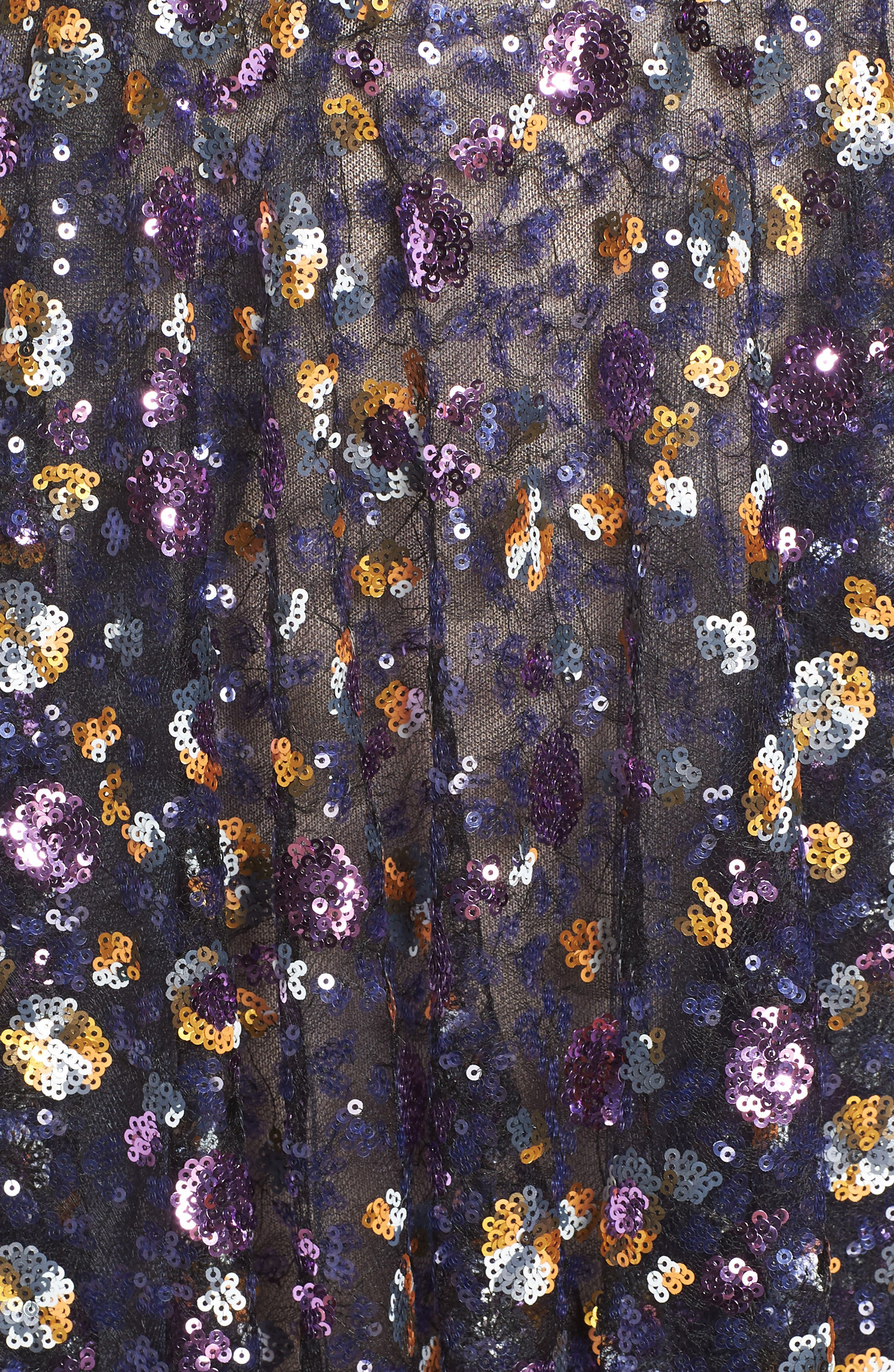 BRONX AND BANCO,                             Sequin Fit & Flare Dress,                             Alternate thumbnail 6, color,                             MULTICOLOR