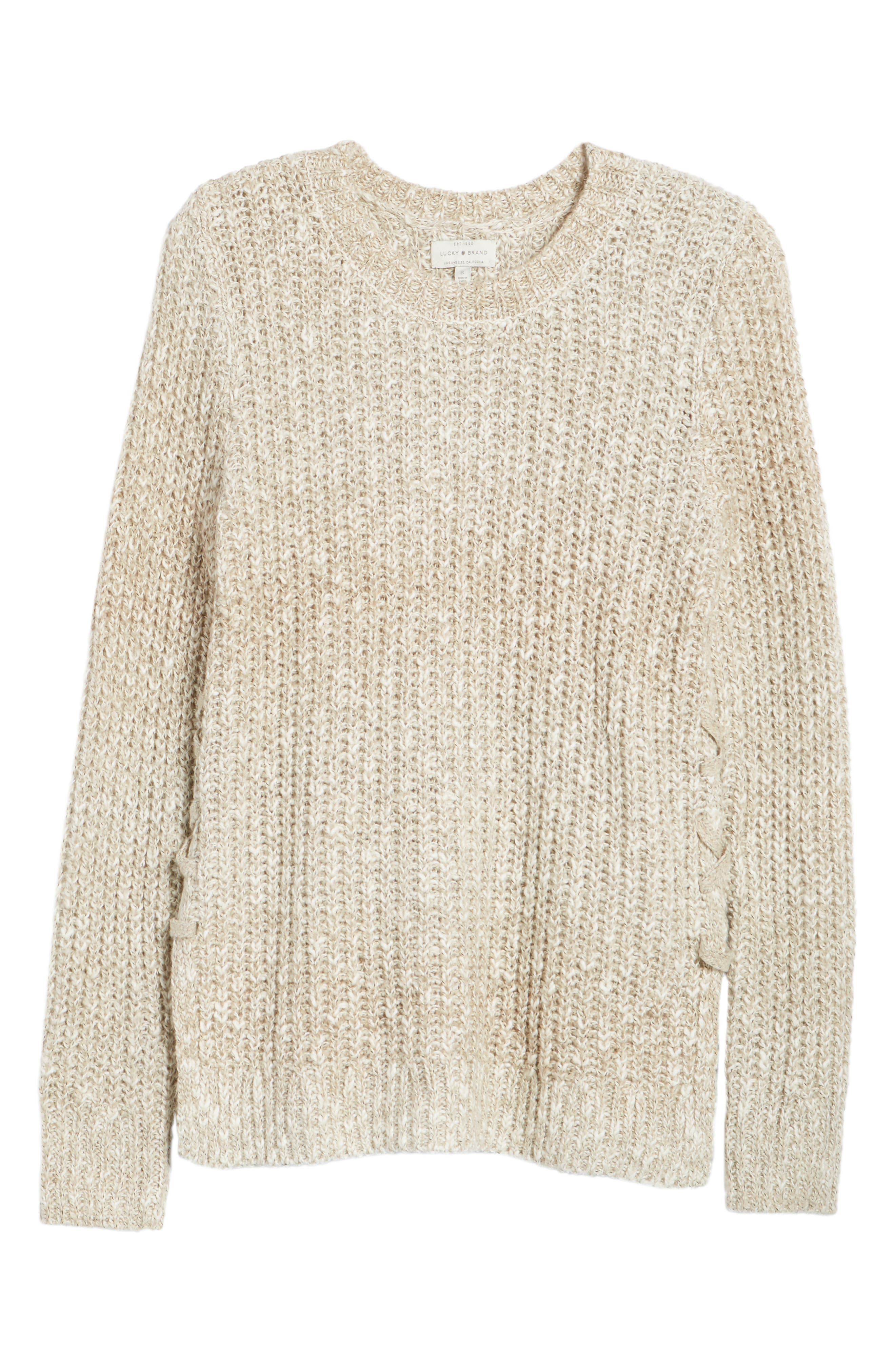 Side Lace-Up Sweater,                             Alternate thumbnail 6, color,                             900