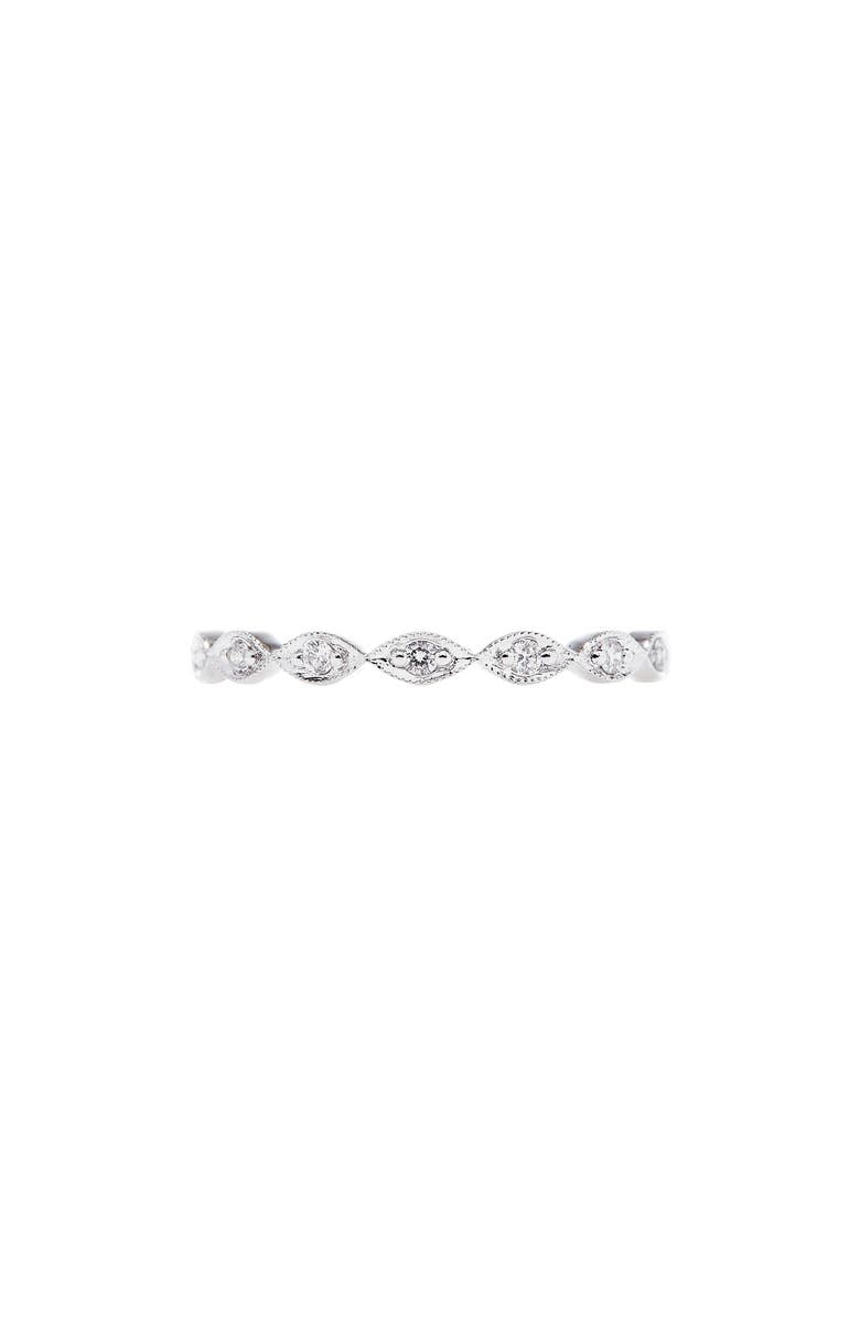 Sethi Couture Marquis Cut Diamond Ring In White Gold