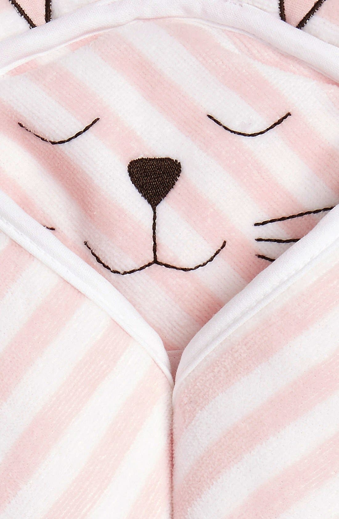 Hooded Animal Towel,                             Alternate thumbnail 2, color,                             PINK BABY BUNNY