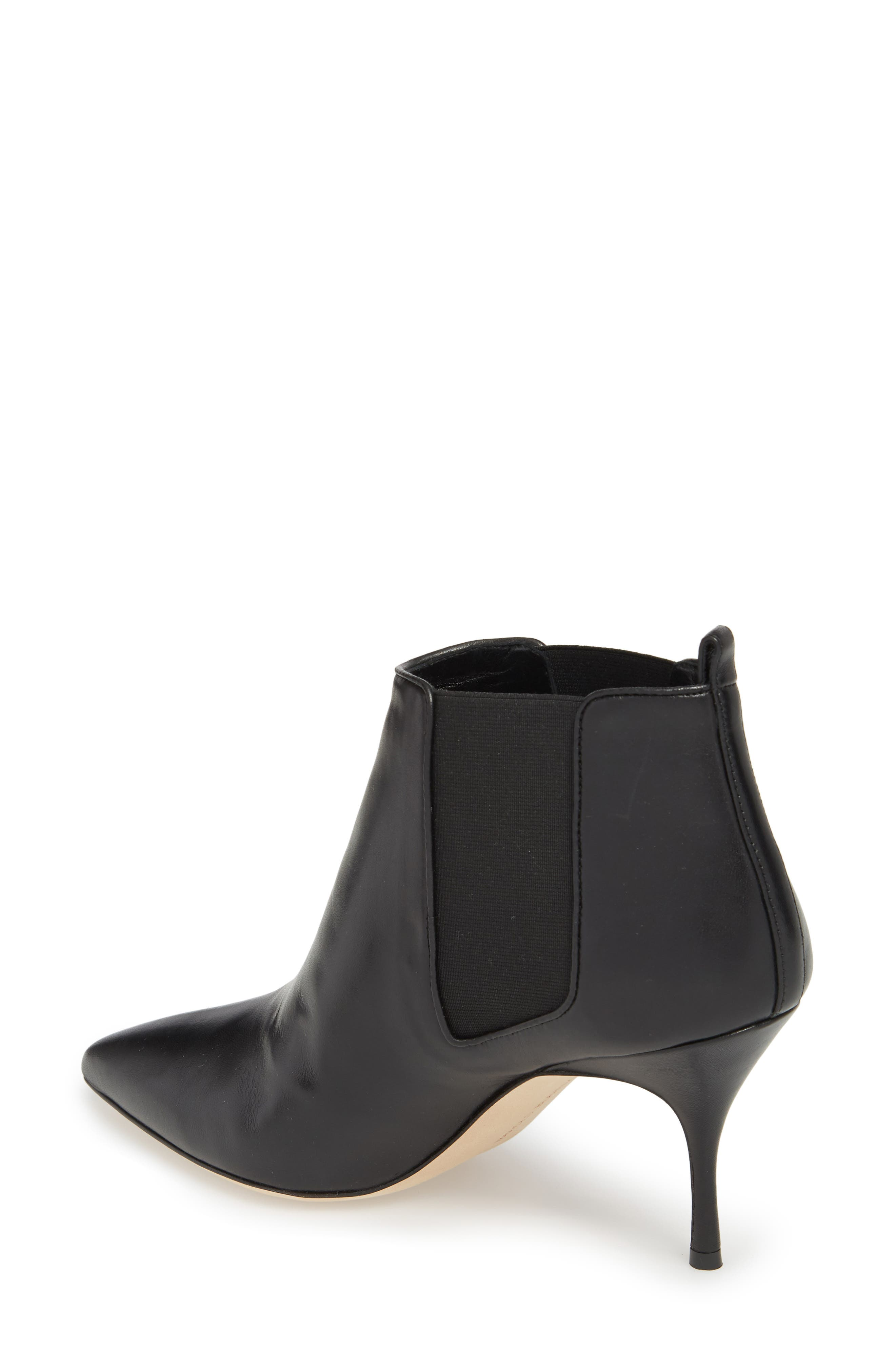 Dildi Pointy Toe Bootie,                             Alternate thumbnail 2, color,                             BLACK LEATHER