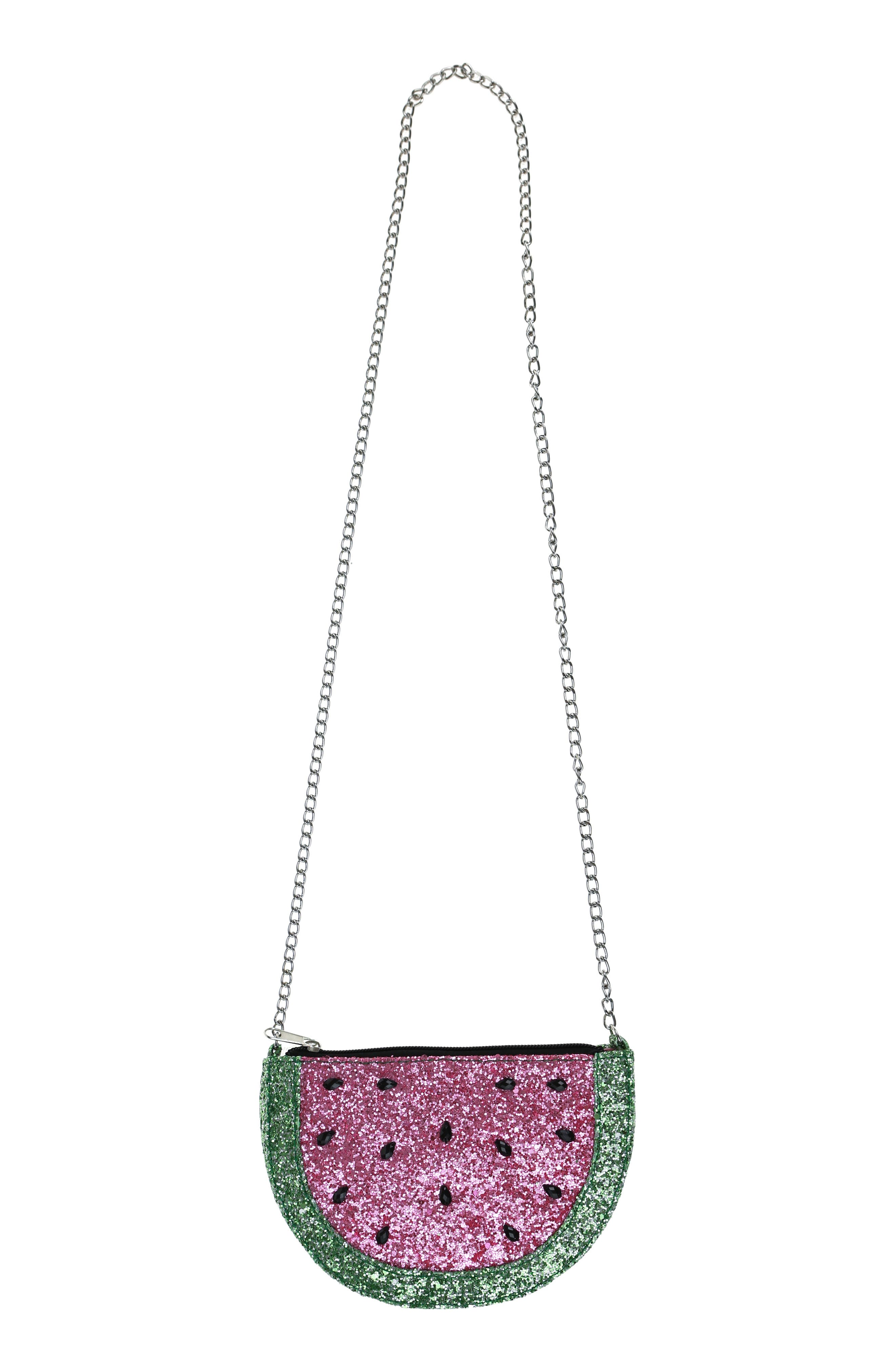 Glitter Watermelon Crossbody Bag,                             Alternate thumbnail 4, color,                             MULTI CO