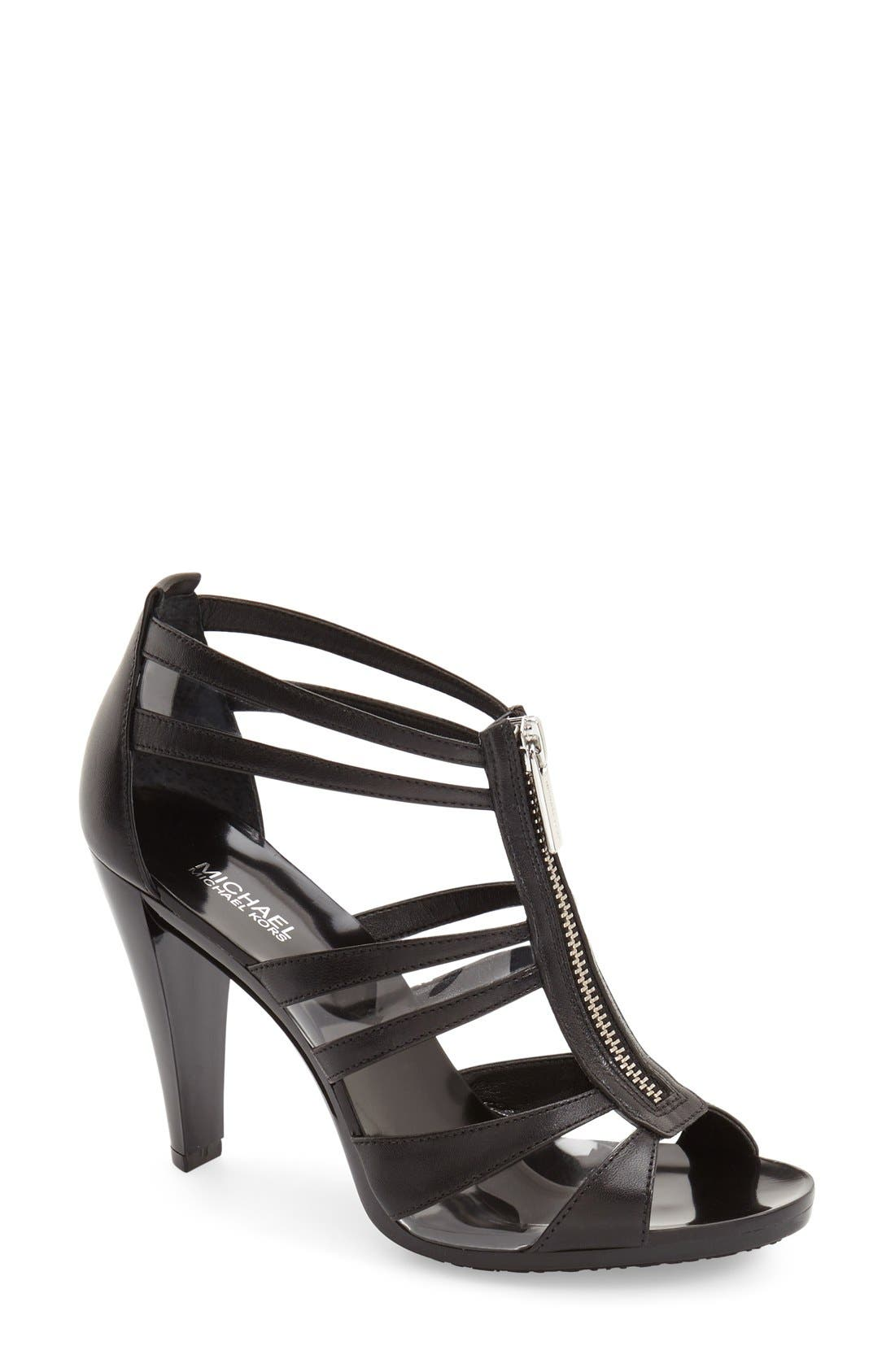 'Berkley' T-Strap Sandal, Main, color, 001