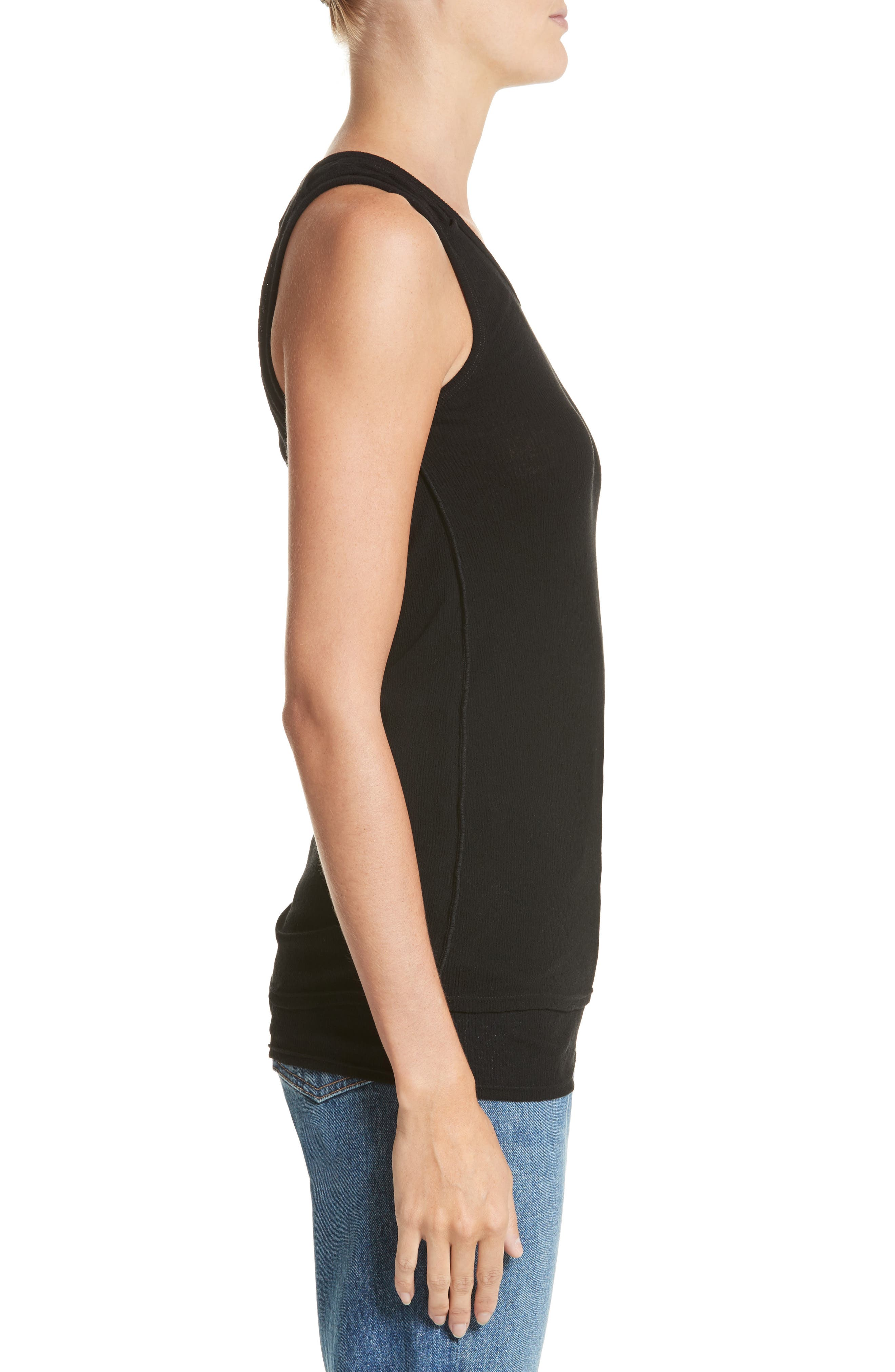 PSWL Jersey Gauze Tank,                             Alternate thumbnail 3, color,                             001