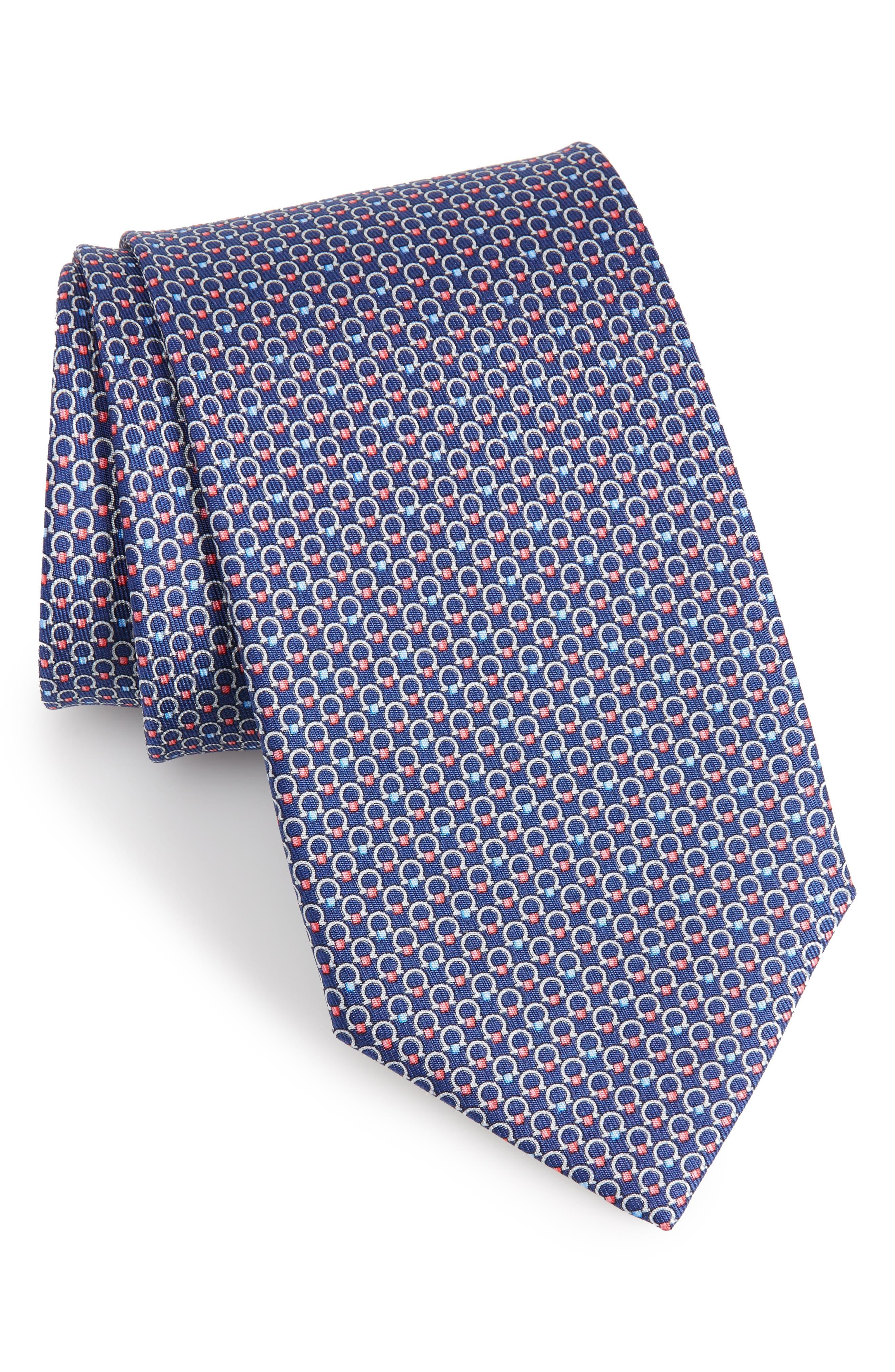 Energia Omega Print Silk Tie,                         Main,                         color, MARINE