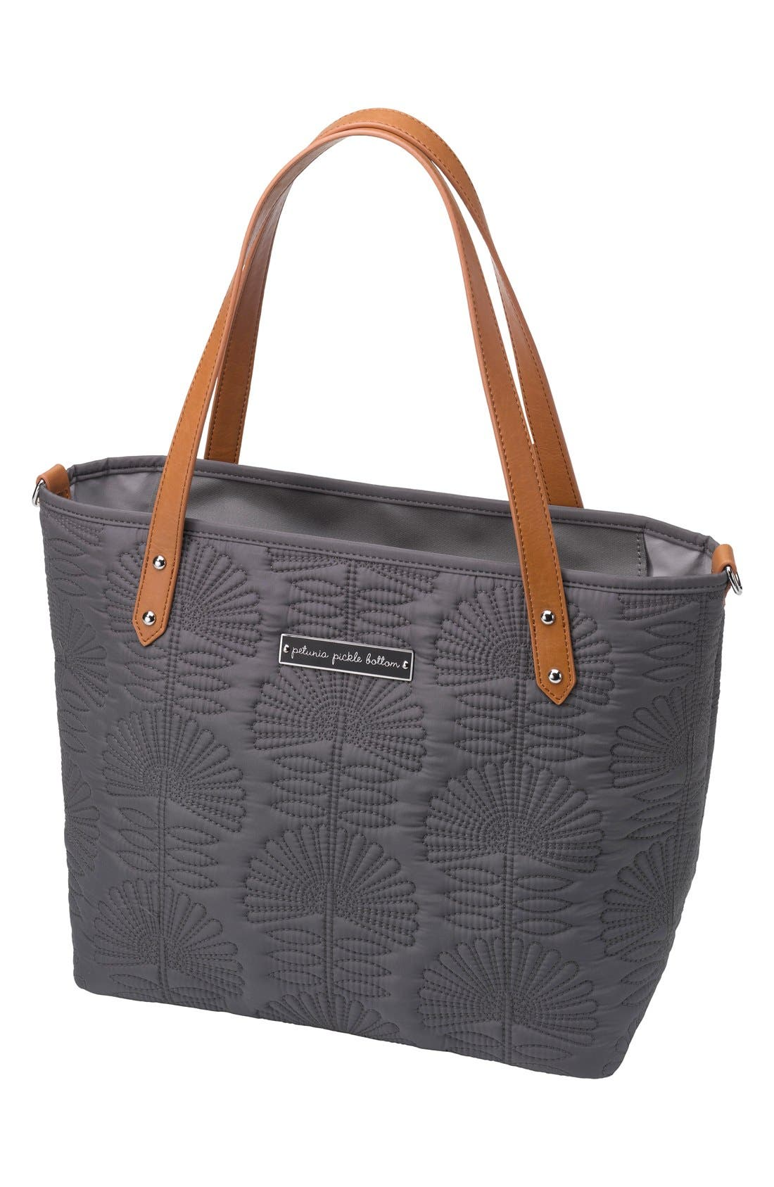 'Downtown Mini' Floral Embossed Diaper Tote,                             Main thumbnail 3, color,