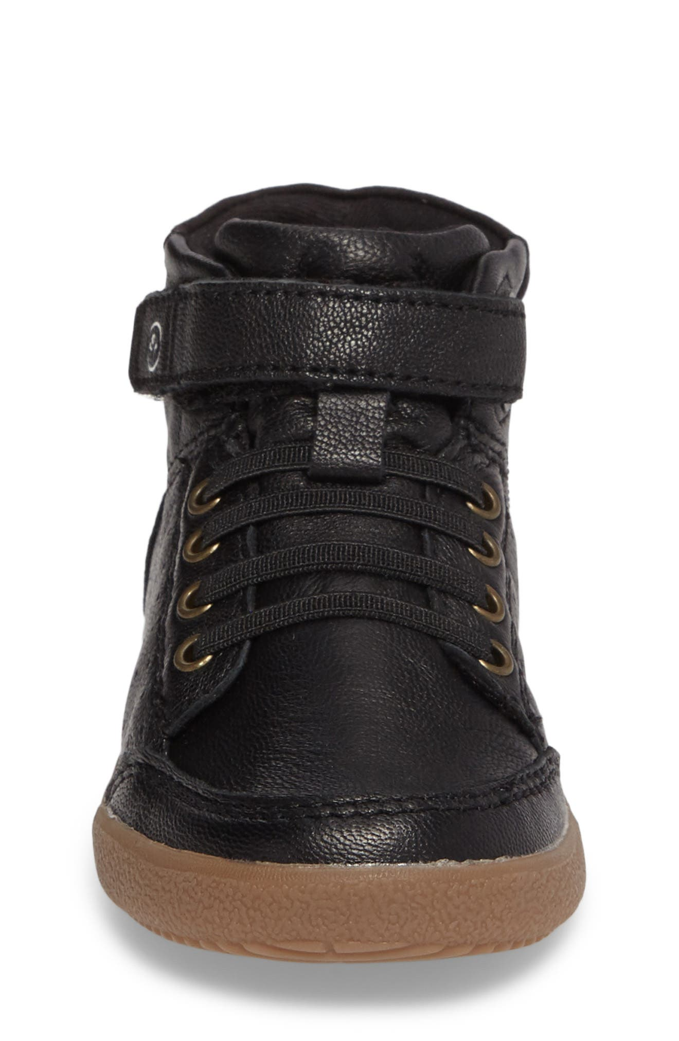 Stone High Top Sneaker,                             Alternate thumbnail 4, color,                             001