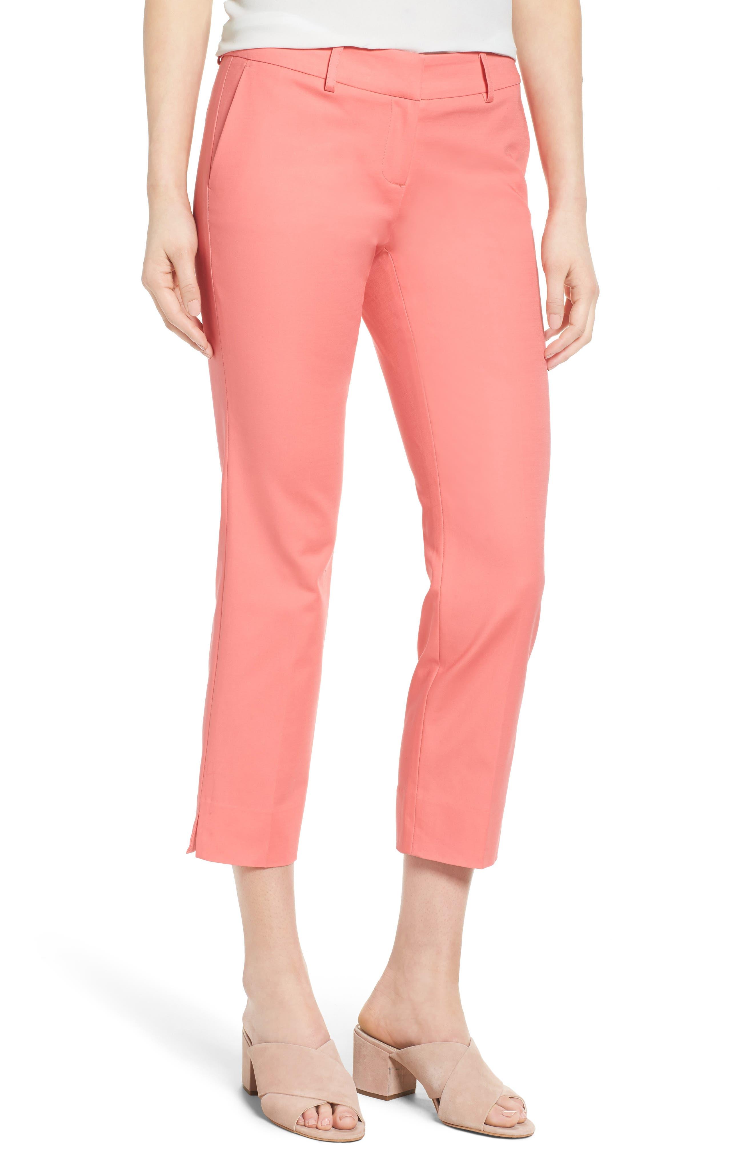 Crop Stretch Cotton Pants,                             Main thumbnail 23, color,