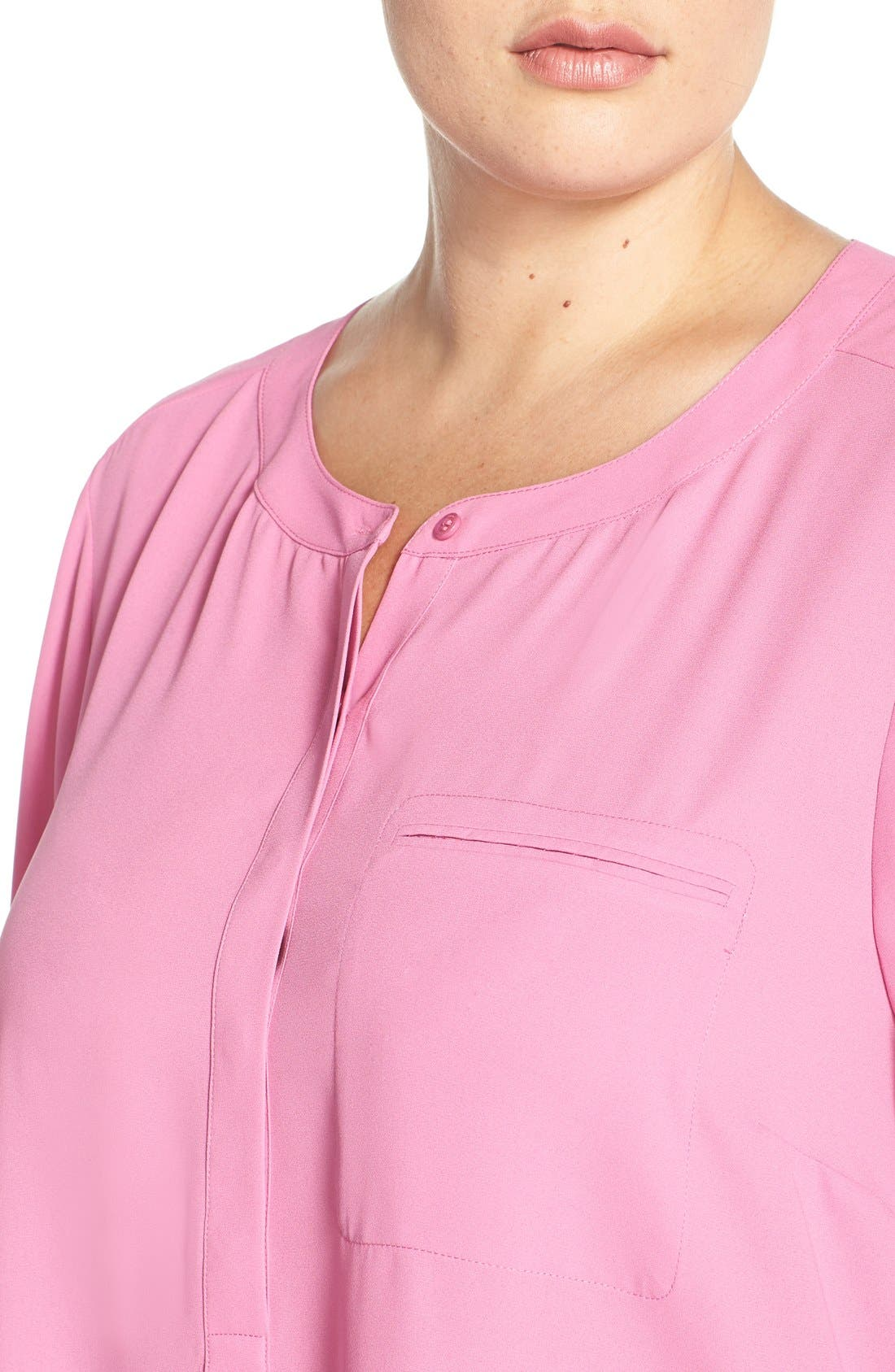 Henley Top,                             Alternate thumbnail 390, color,