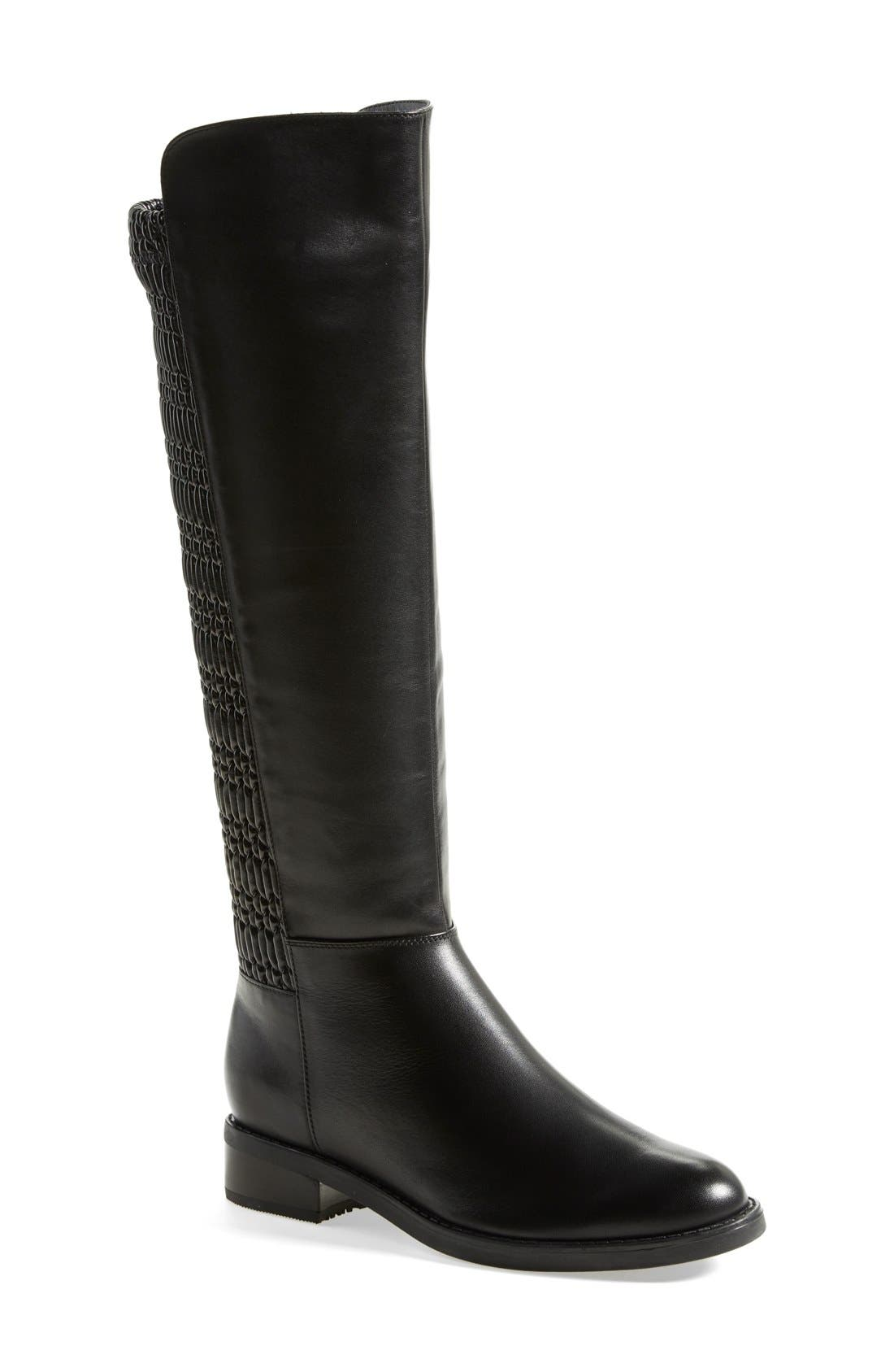 'Elenor' Waterproof Riding Boot,                             Main thumbnail 1, color,                             001