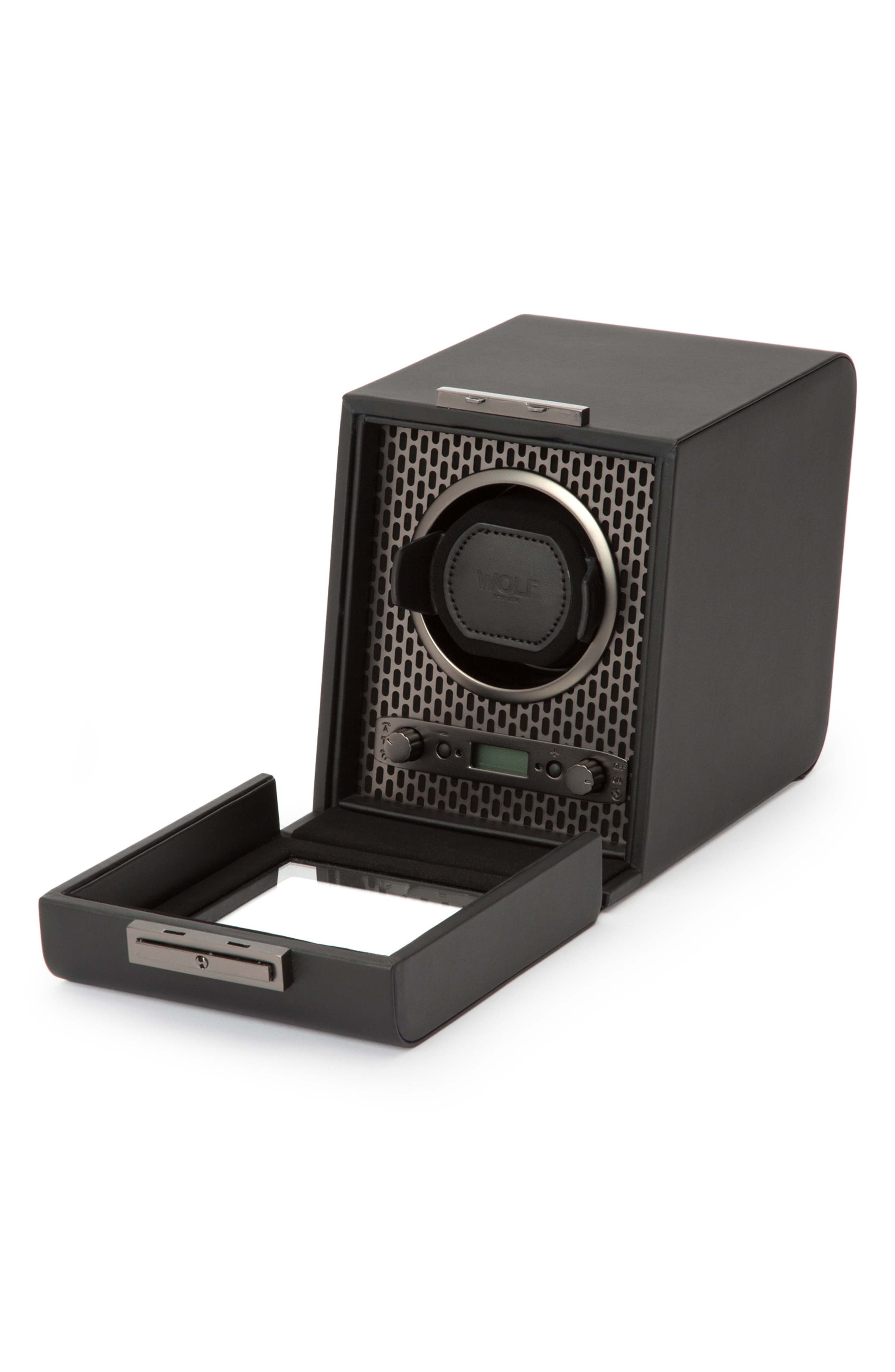 Axis Single Watch Winder,                             Alternate thumbnail 4, color,                             POWDER COAT