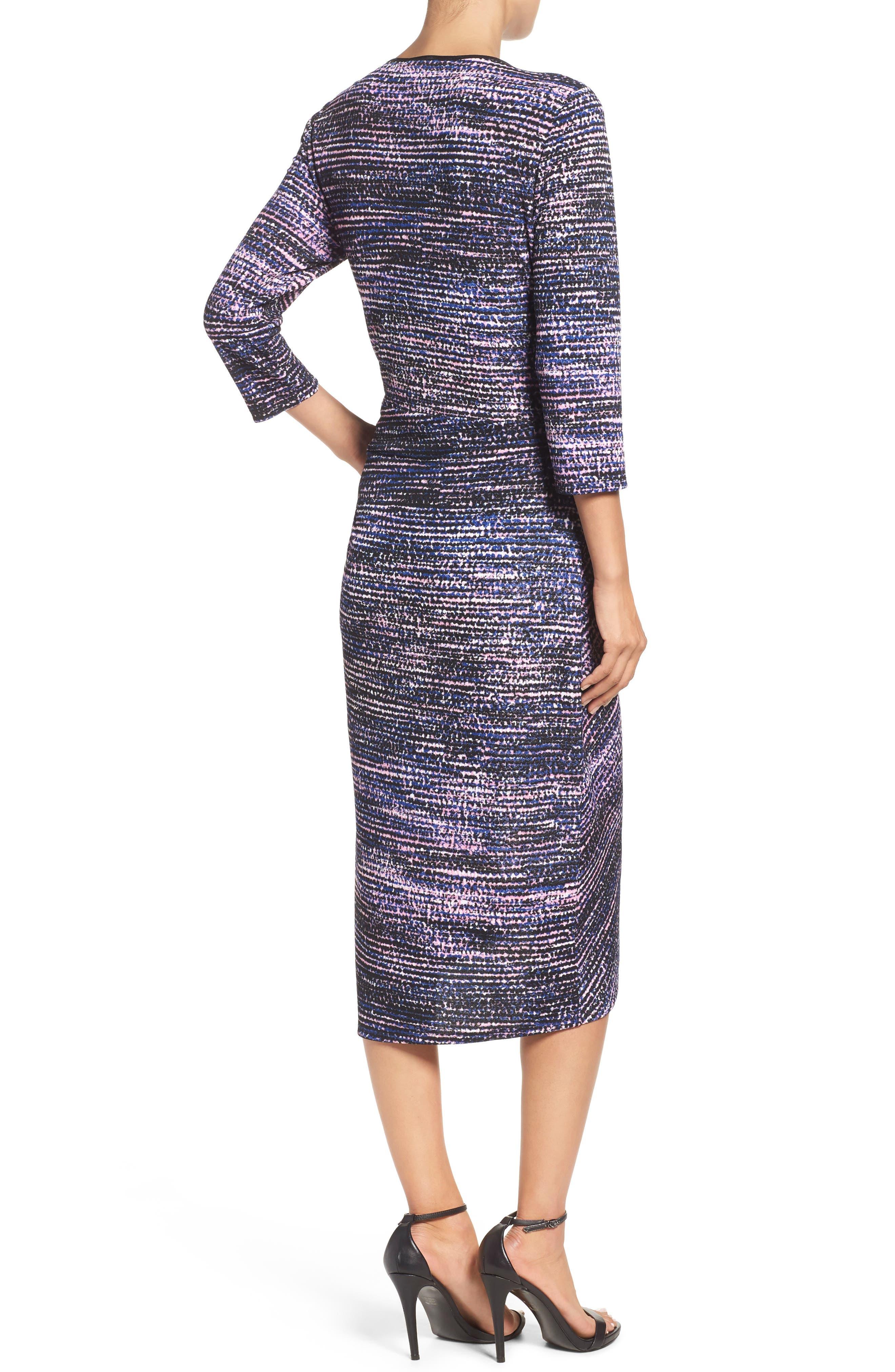 Faux Wrap Dress,                             Alternate thumbnail 2, color,                             654