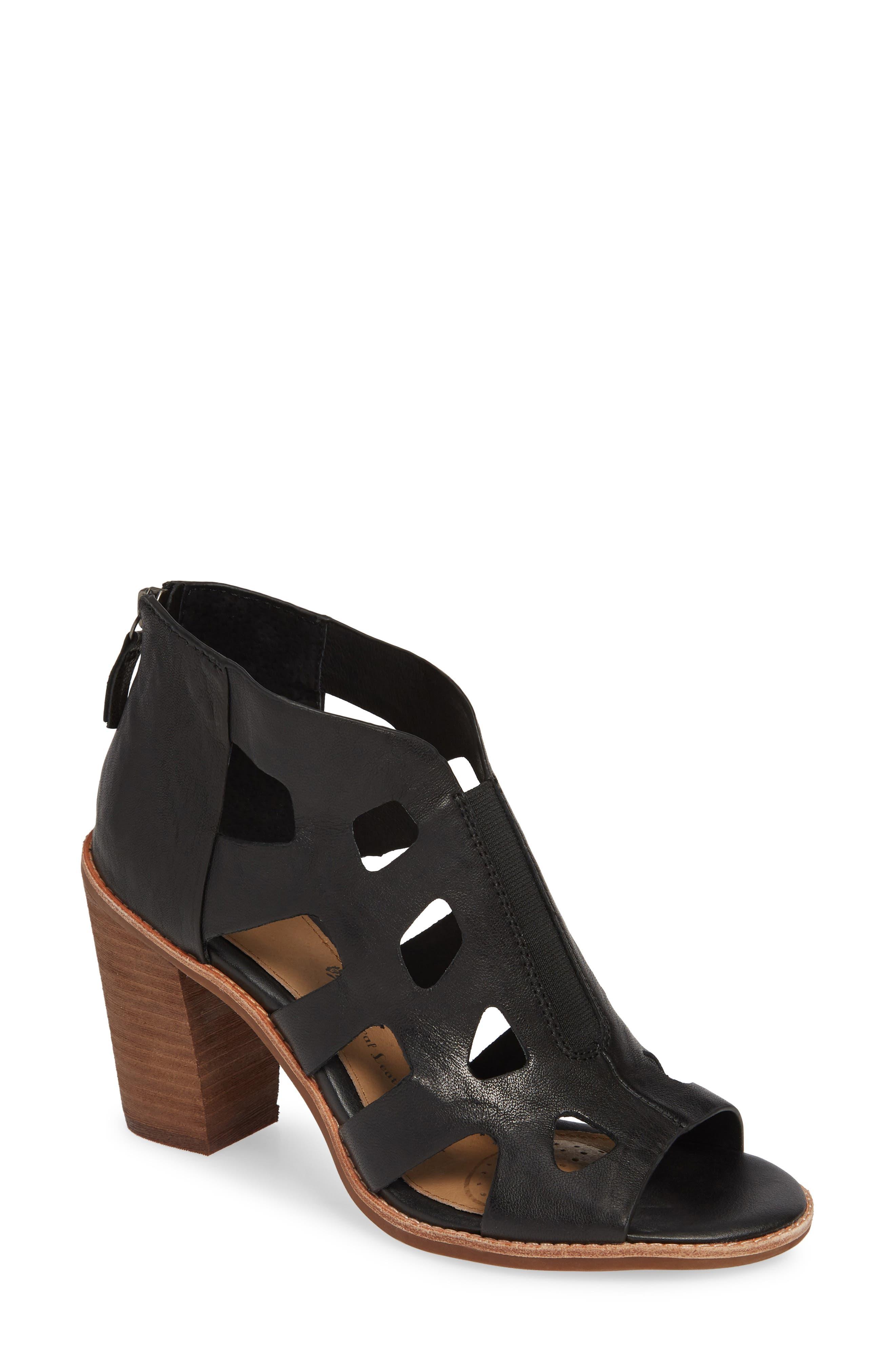 Pazia Block Heel Sandal,                             Main thumbnail 1, color,                             BLACK LEATHER