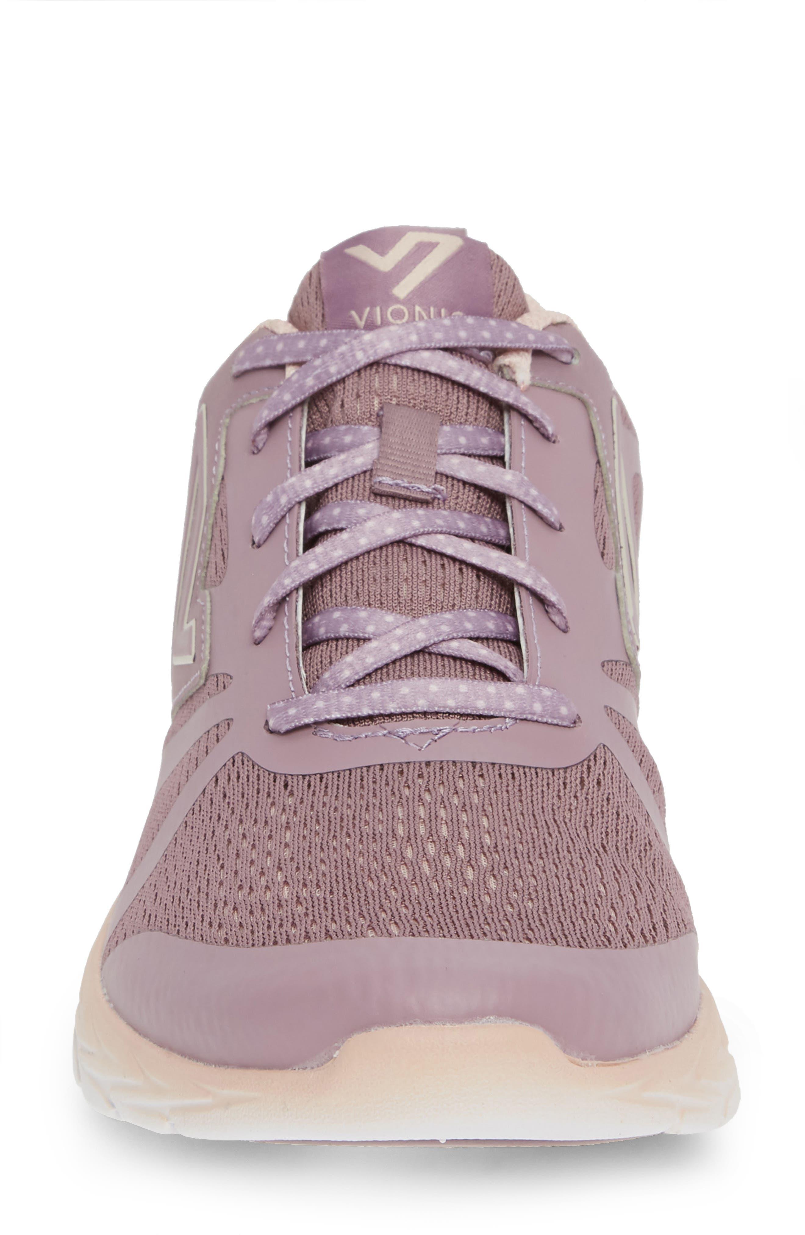 VIONIC,                             Brisk Miles Sneaker,                             Alternate thumbnail 4, color,                             MAUVE