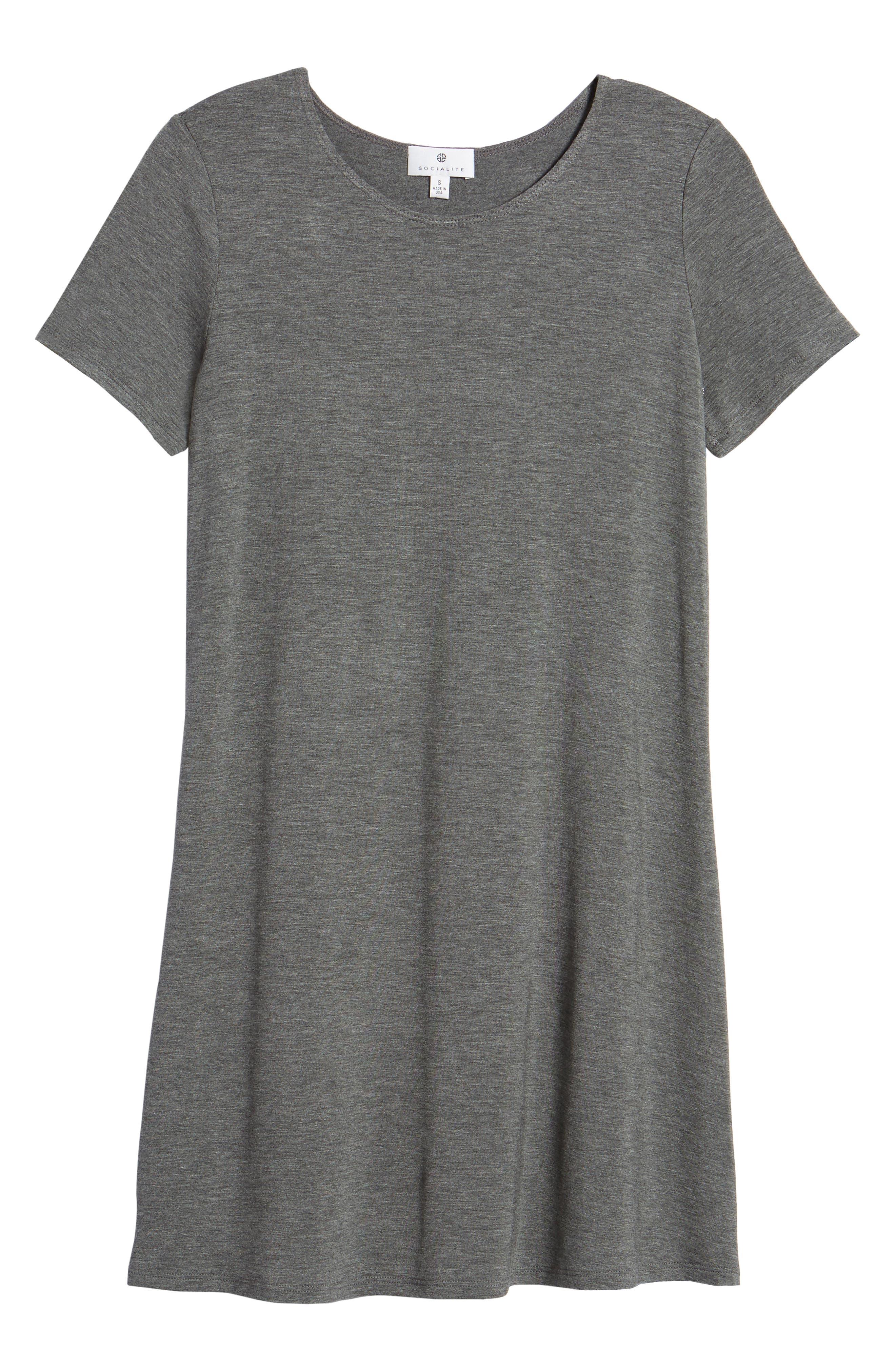 T-Shirt Dress,                             Alternate thumbnail 7, color,                             020
