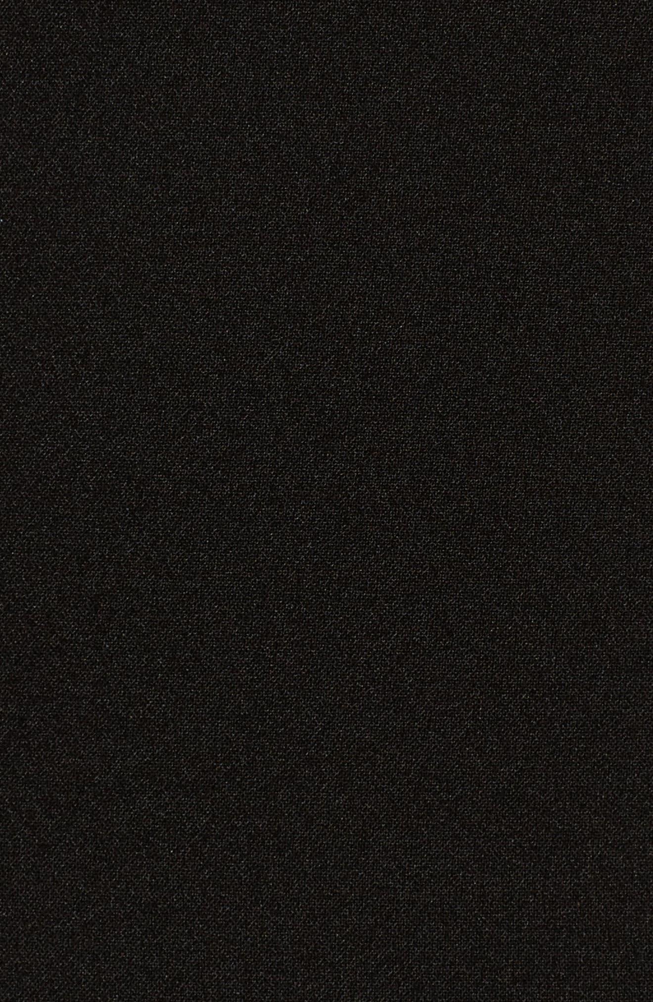 Jeanie Trumpet Midi Dress,                             Alternate thumbnail 5, color,                             001