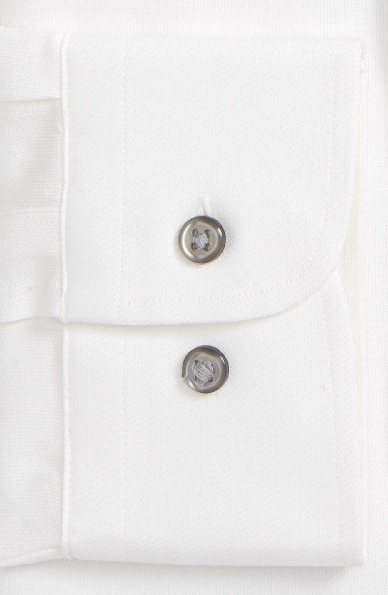 Tech-Smart Traditional Fit Stretch Solid Dress Shirt,                             Alternate thumbnail 6, color,                             WHITE