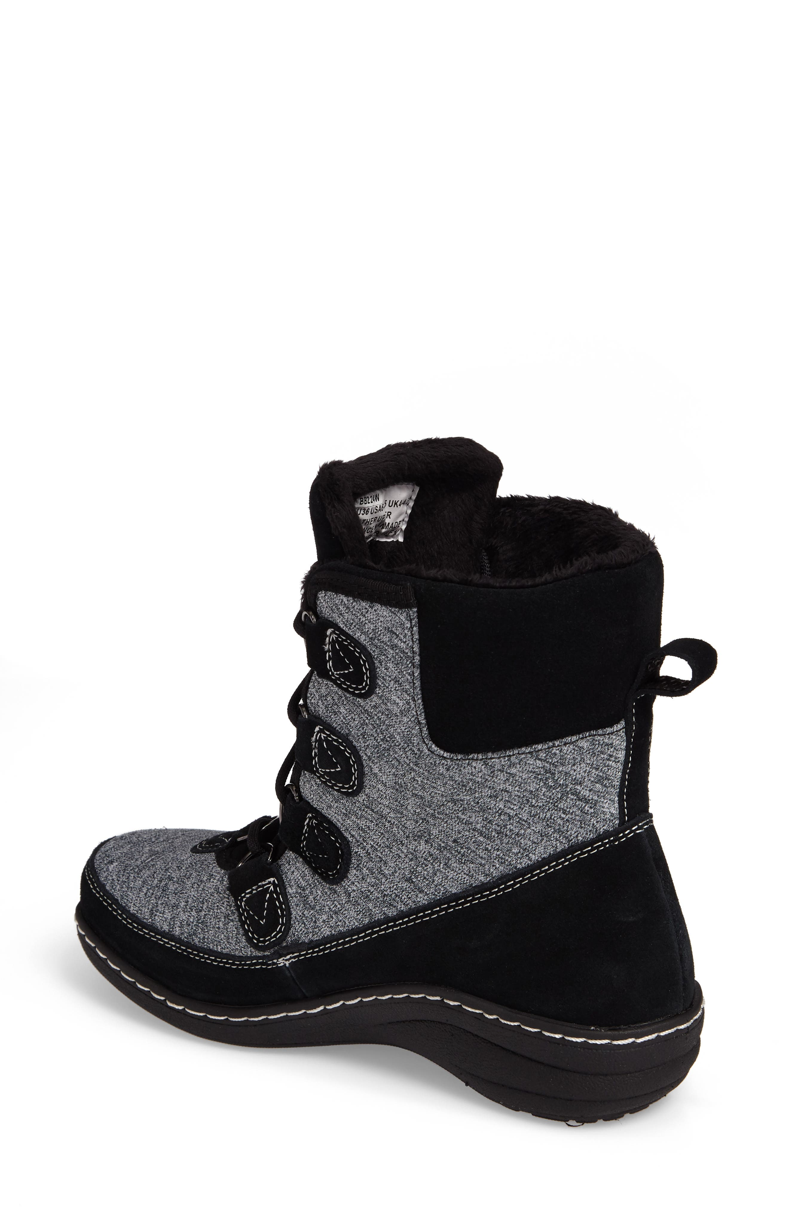 Berries Water Resistant Boot,                             Alternate thumbnail 2, color,                             MULTIBERRY SUEDE