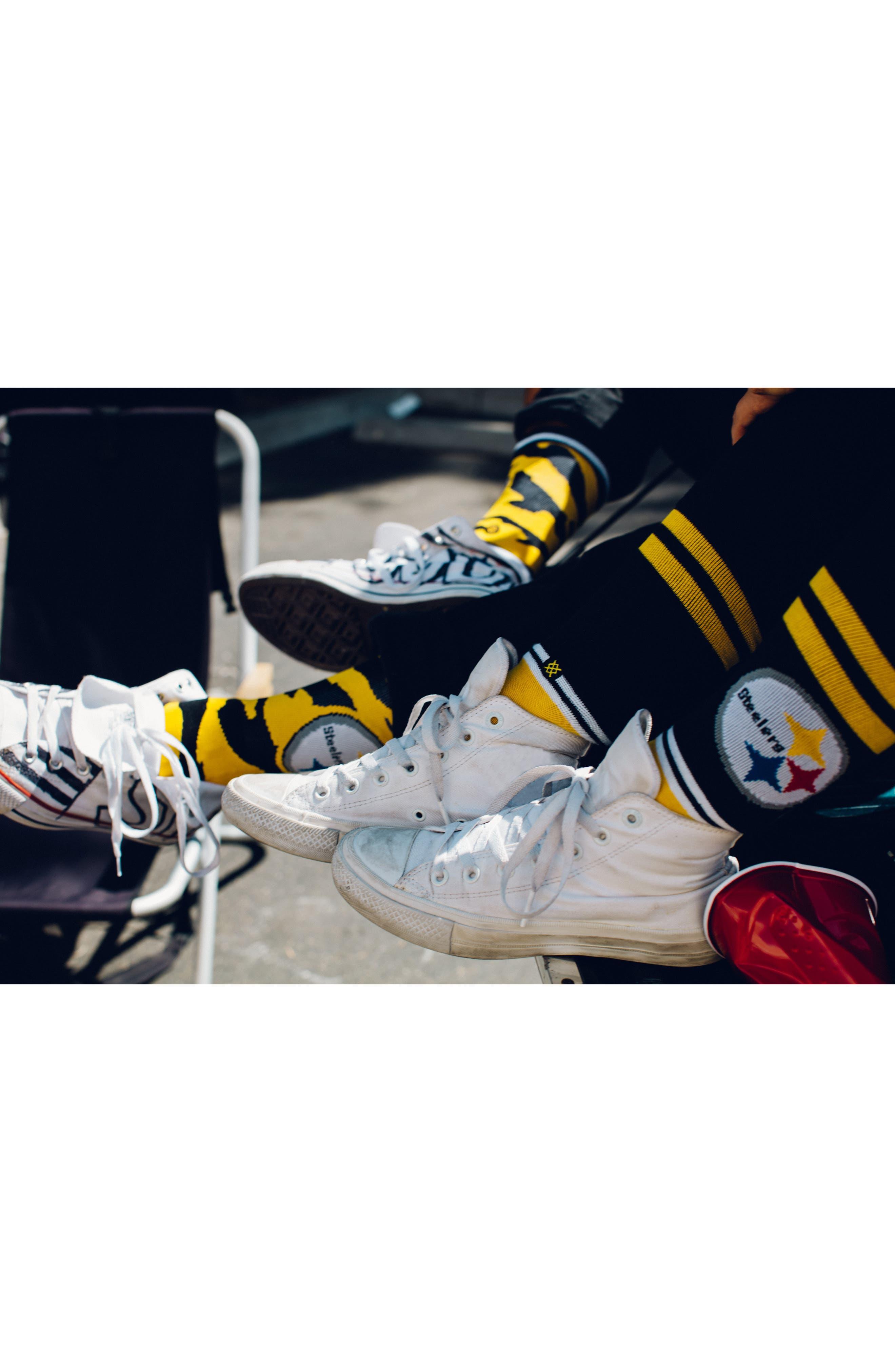 Pittsburgh Steelers - Fade Socks,                             Alternate thumbnail 8, color,                             700