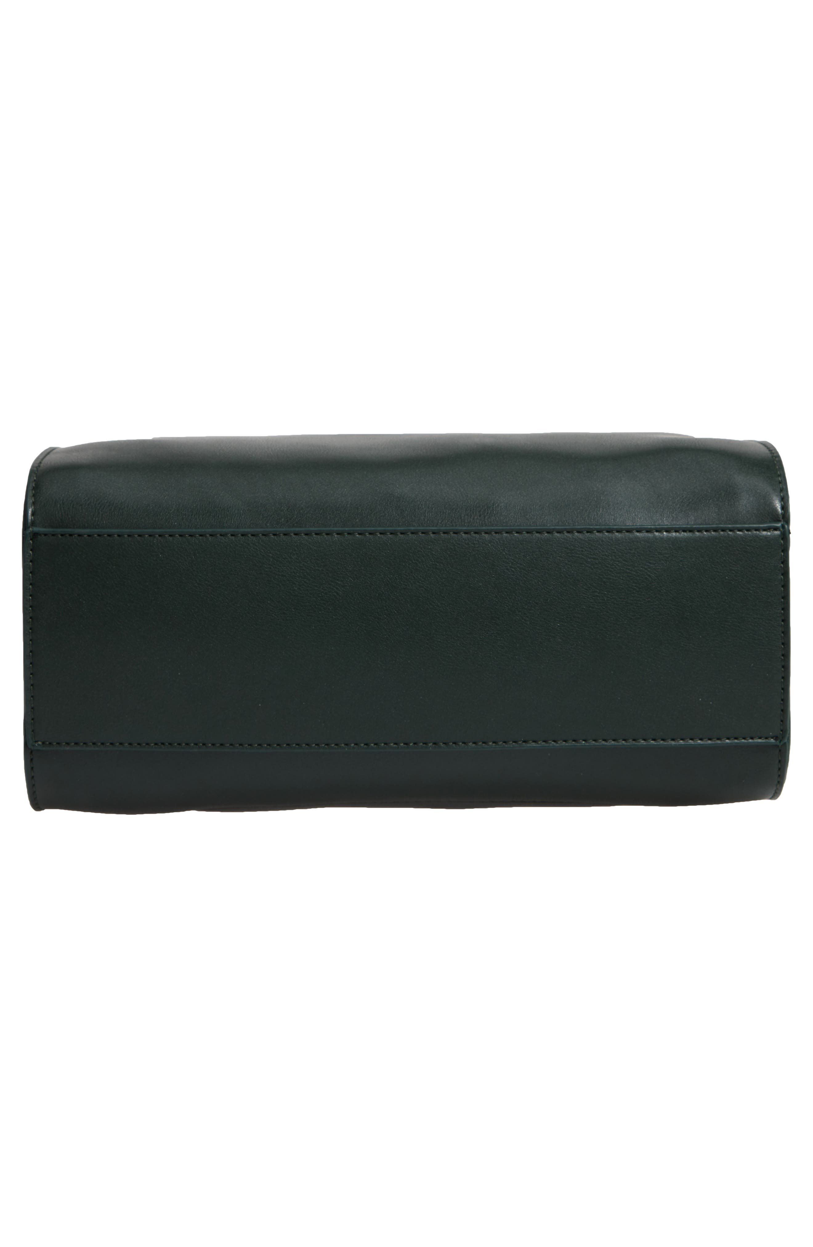 Whipstitch Handle Faux Leather Crossbody Bag,                             Alternate thumbnail 6, color,                             DARK GREEN