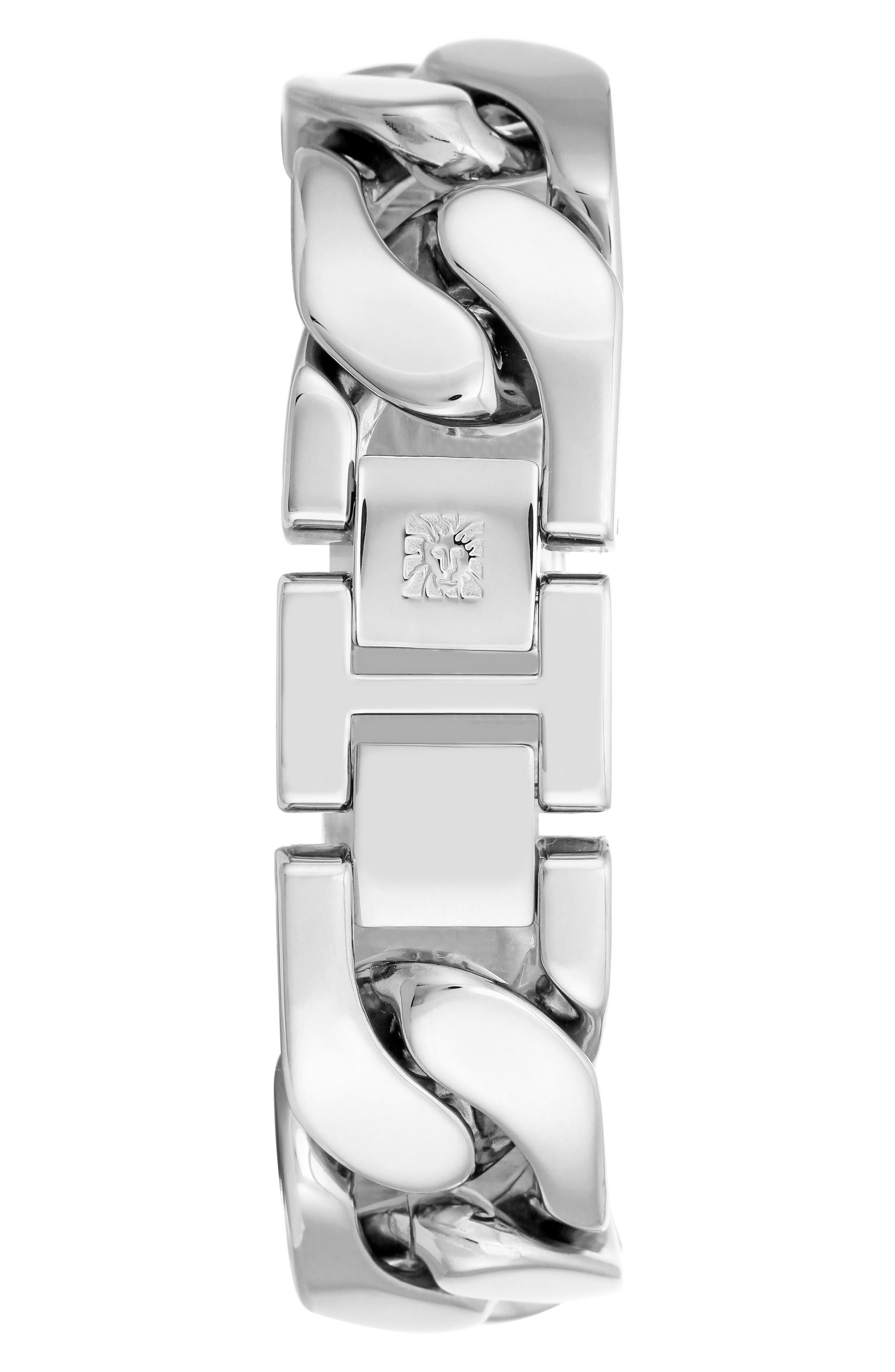 Bracelet Watch, 20.5mm,                             Alternate thumbnail 2, color,                             SILVER