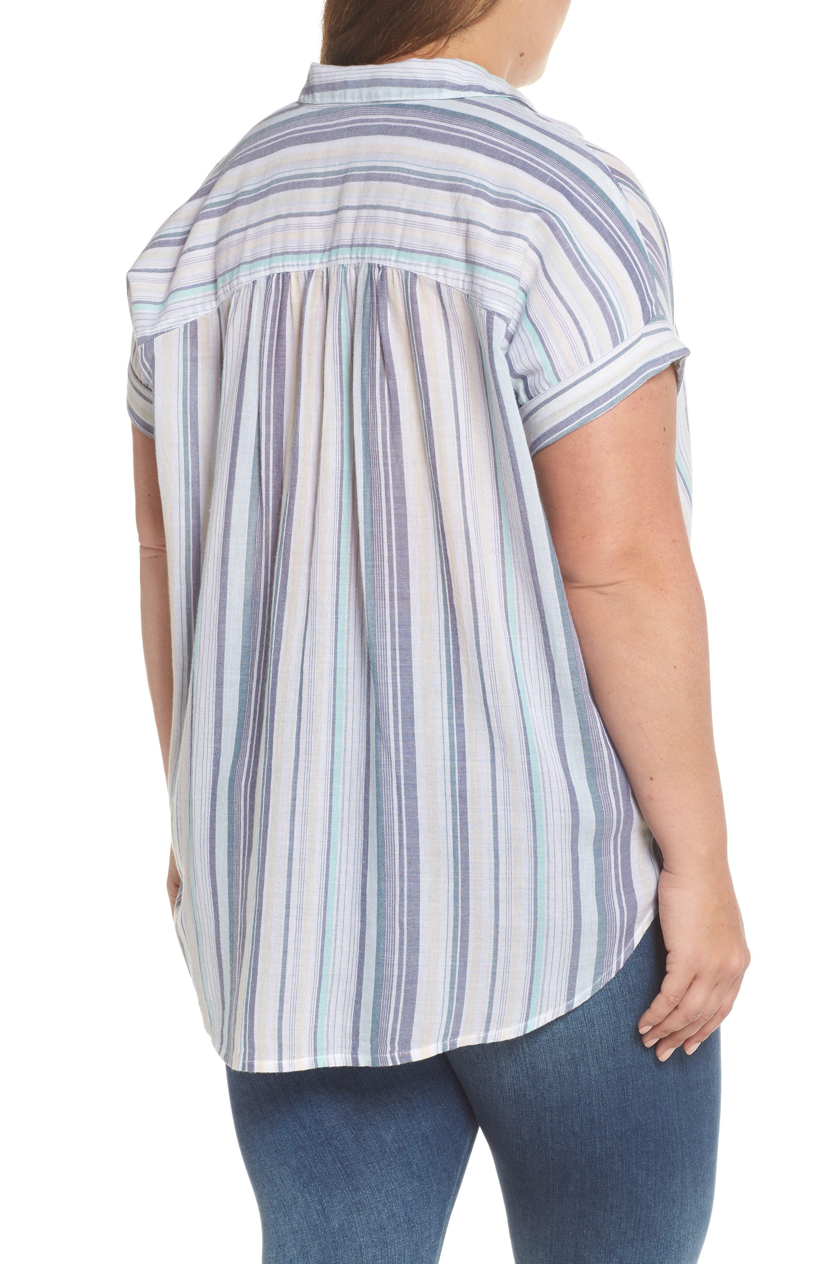 Sheer Stripe Shirt,                             Alternate thumbnail 2, color,                             101