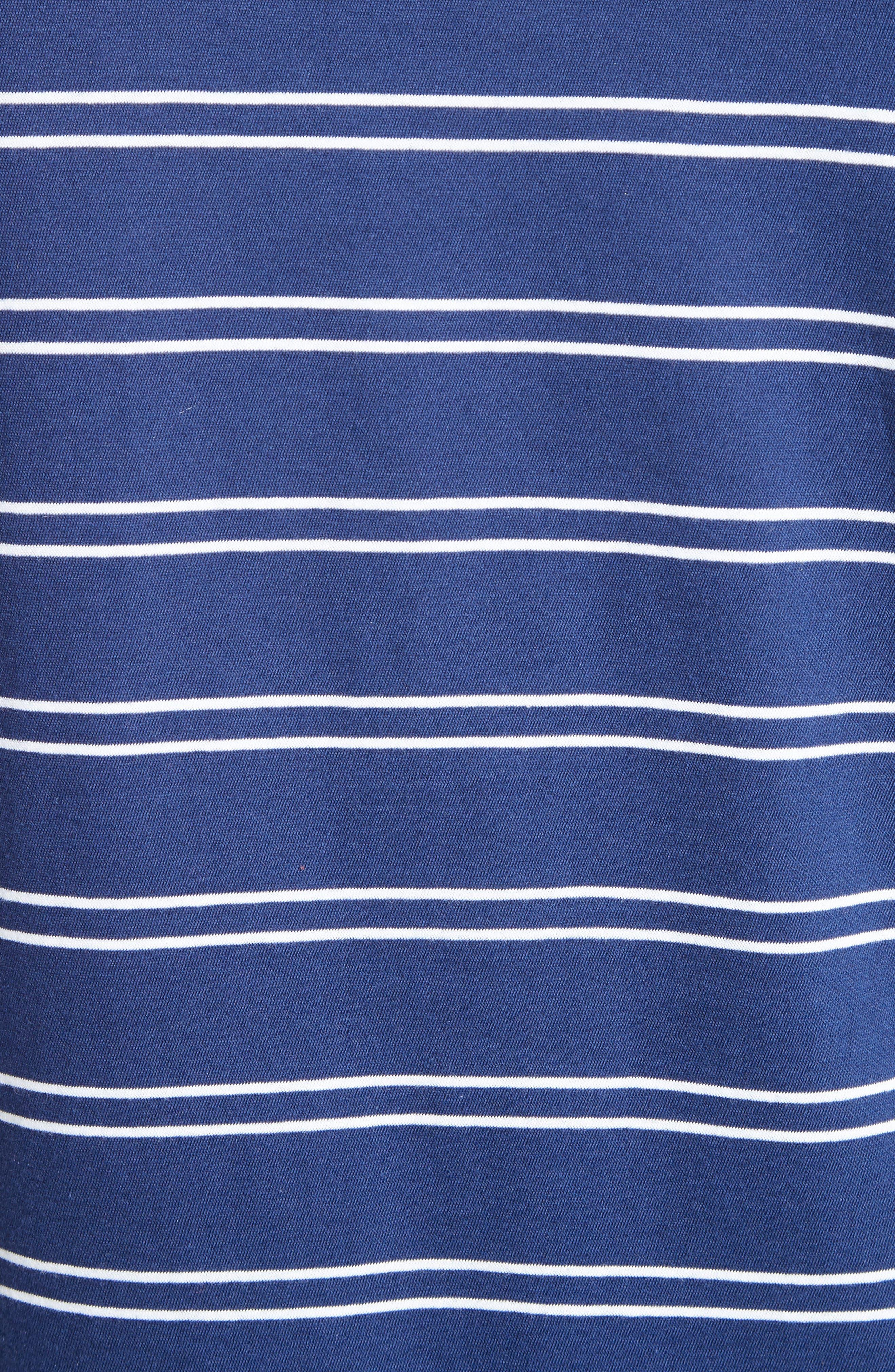 Fine Stripe Double Face Polo,                             Alternate thumbnail 5, color,                             400