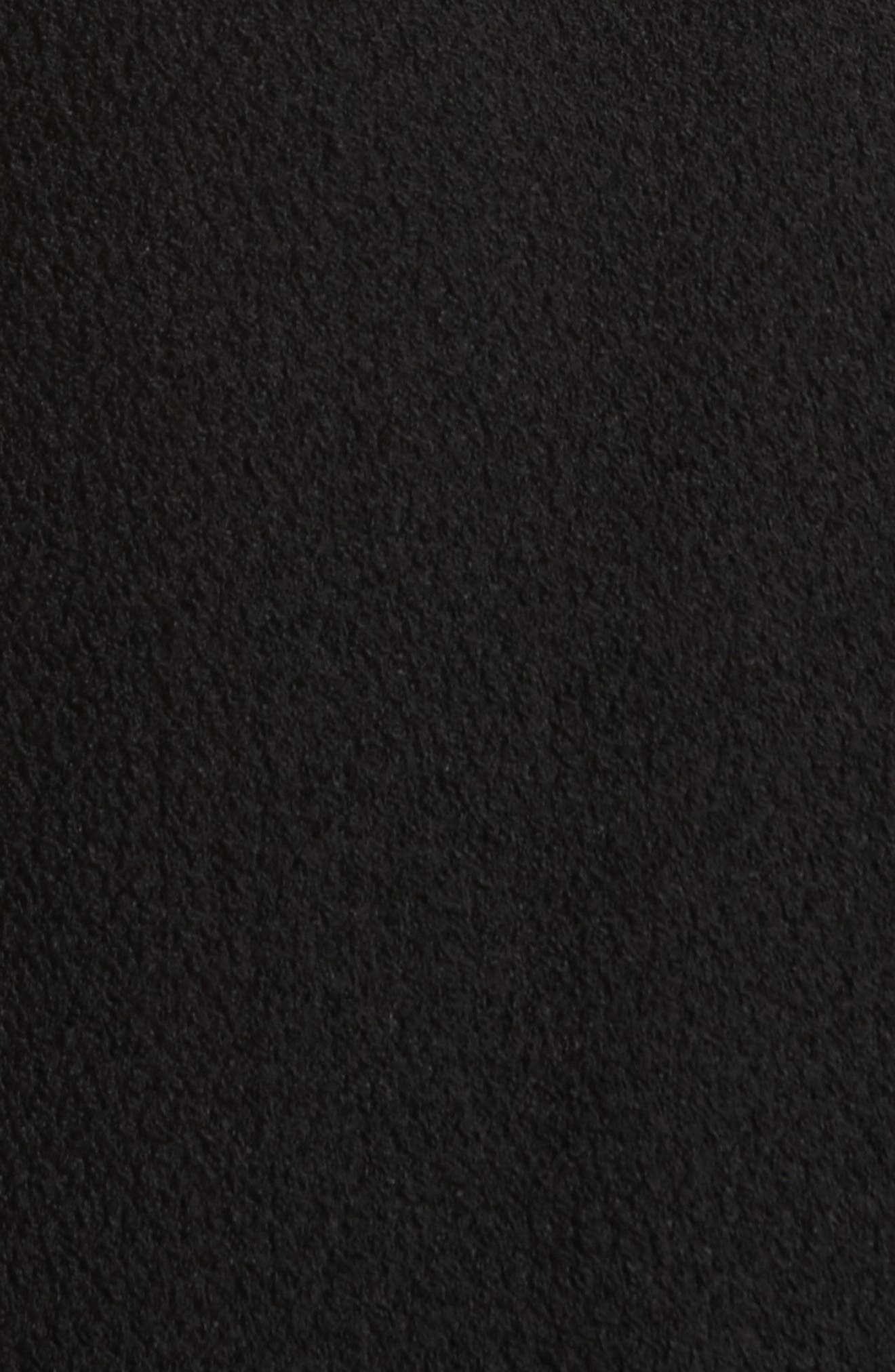 Maude Ruffle Panel Crepe Skirt,                             Alternate thumbnail 5, color,                             001