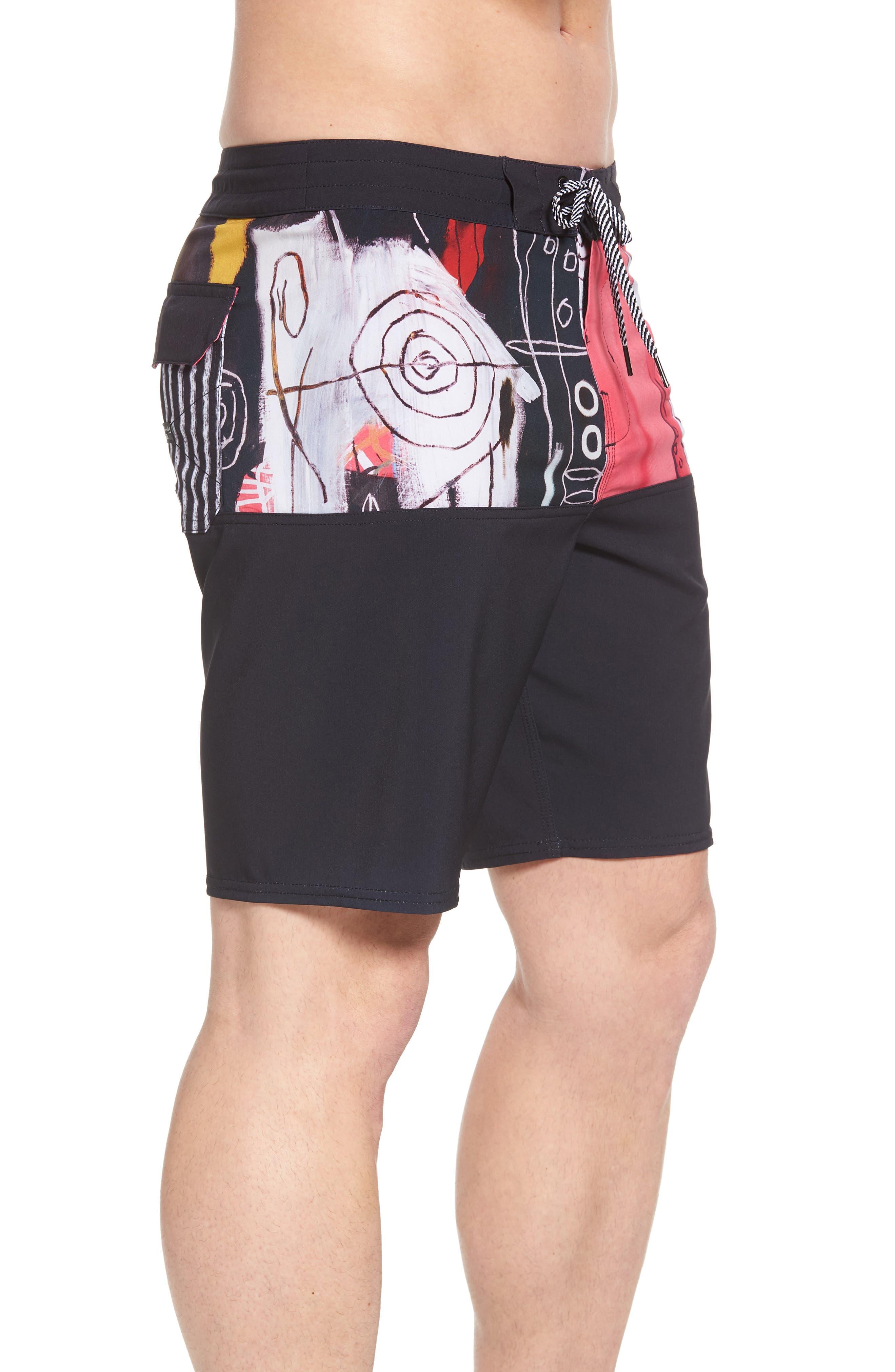 x Warhol New Flame Board Shorts,                             Alternate thumbnail 3, color,                             MAGENTA