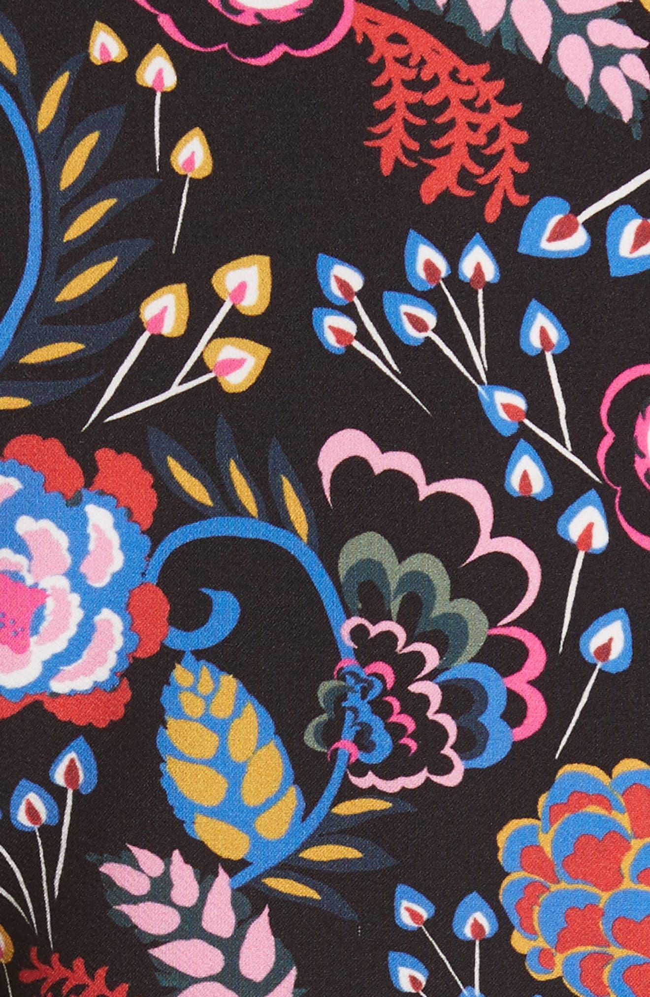 Celia Floral Print Dress,                             Alternate thumbnail 5, color,                             005