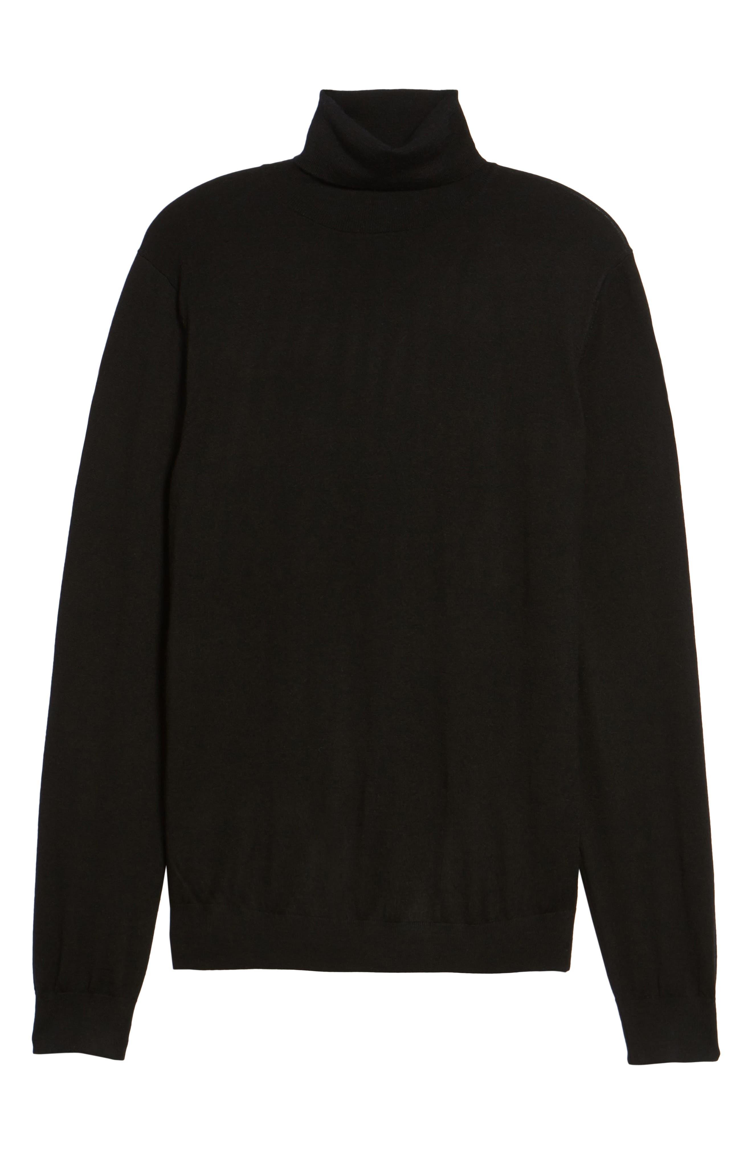 Turtleneck Sweater,                             Alternate thumbnail 6, color,                             001