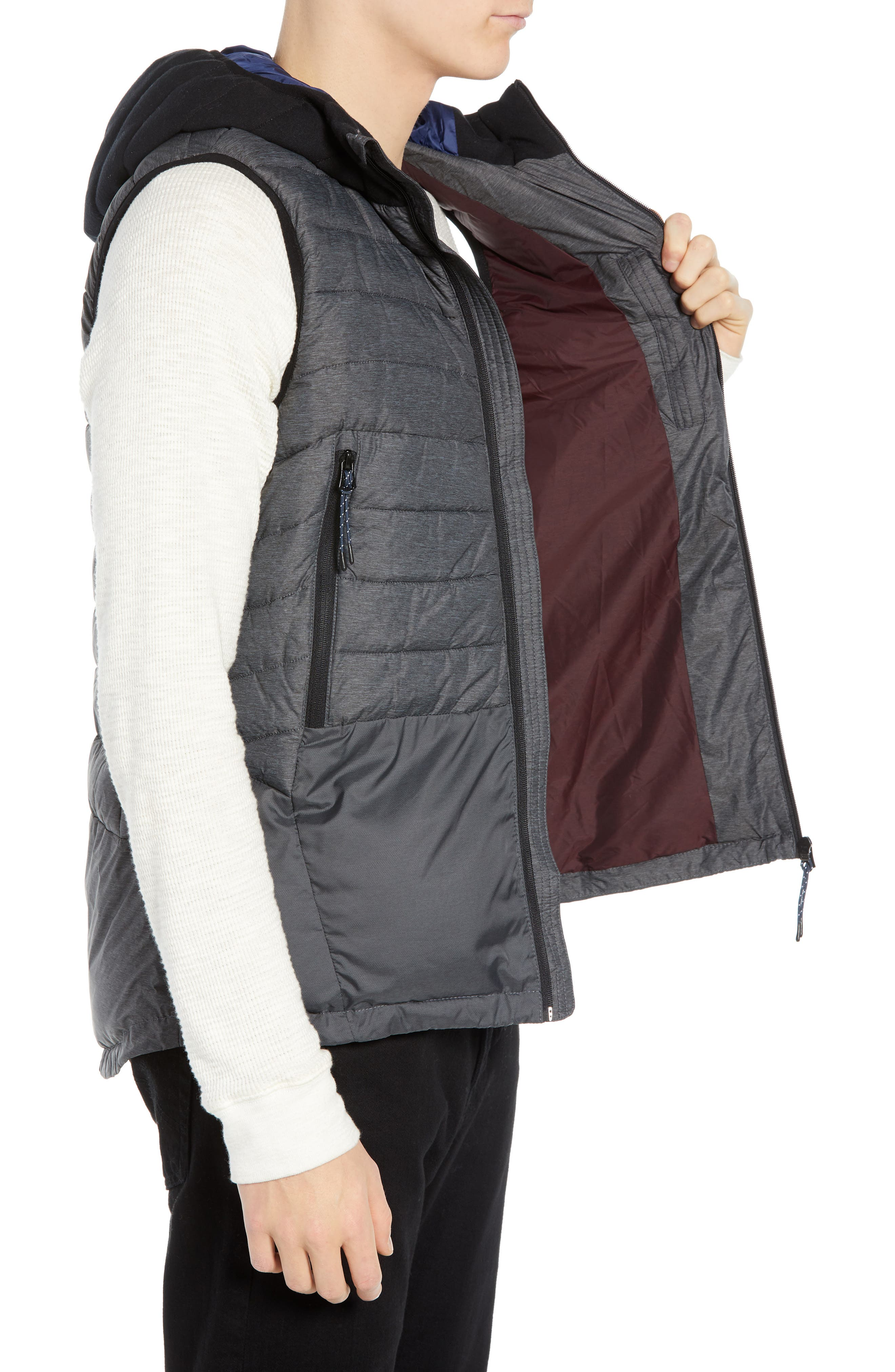 Quilted Hooded Vest,                             Alternate thumbnail 3, color,                             030