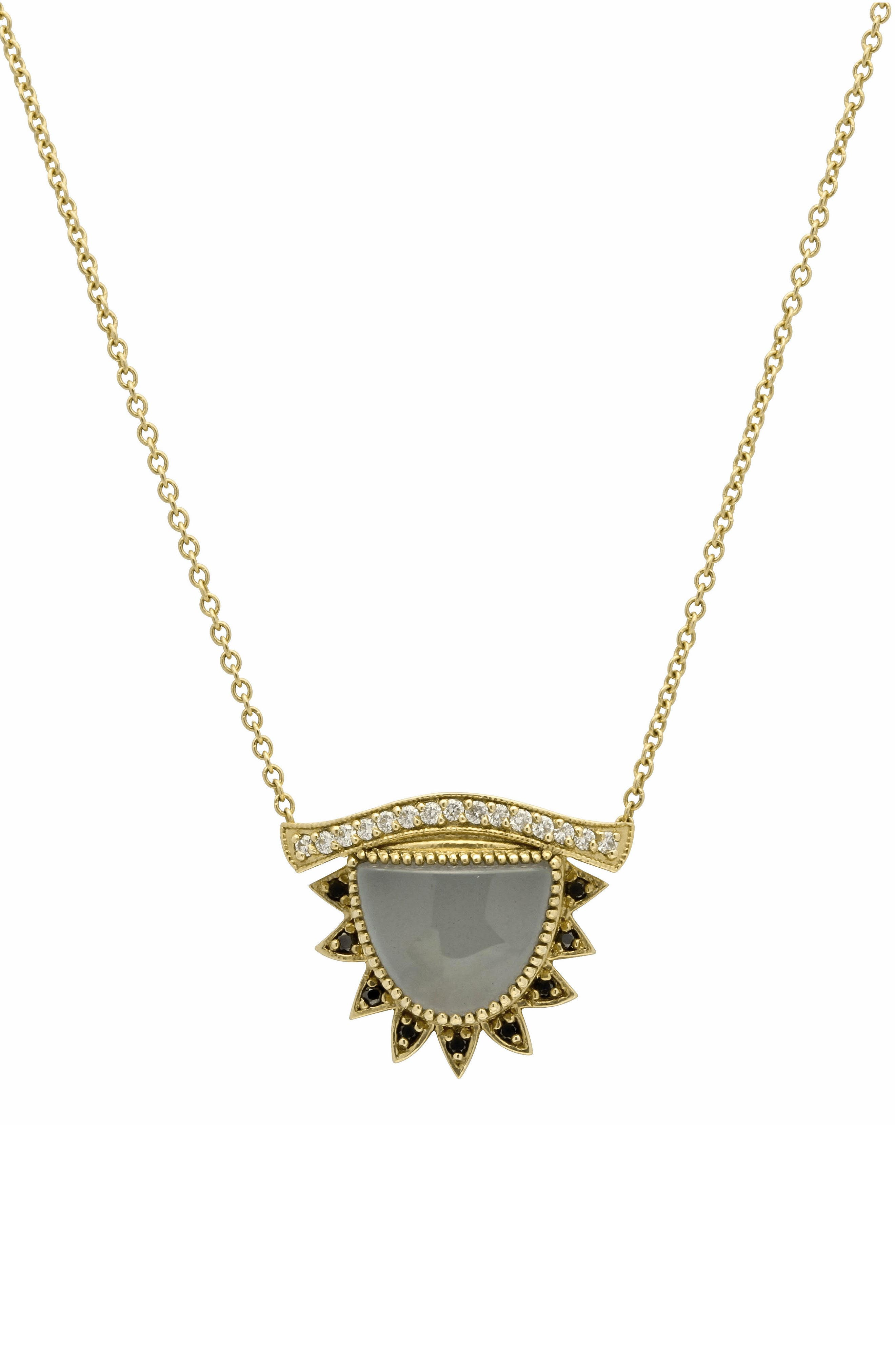Inspire & Calm Small Third Eye Necklace, Main, color, YELLOW GOLD